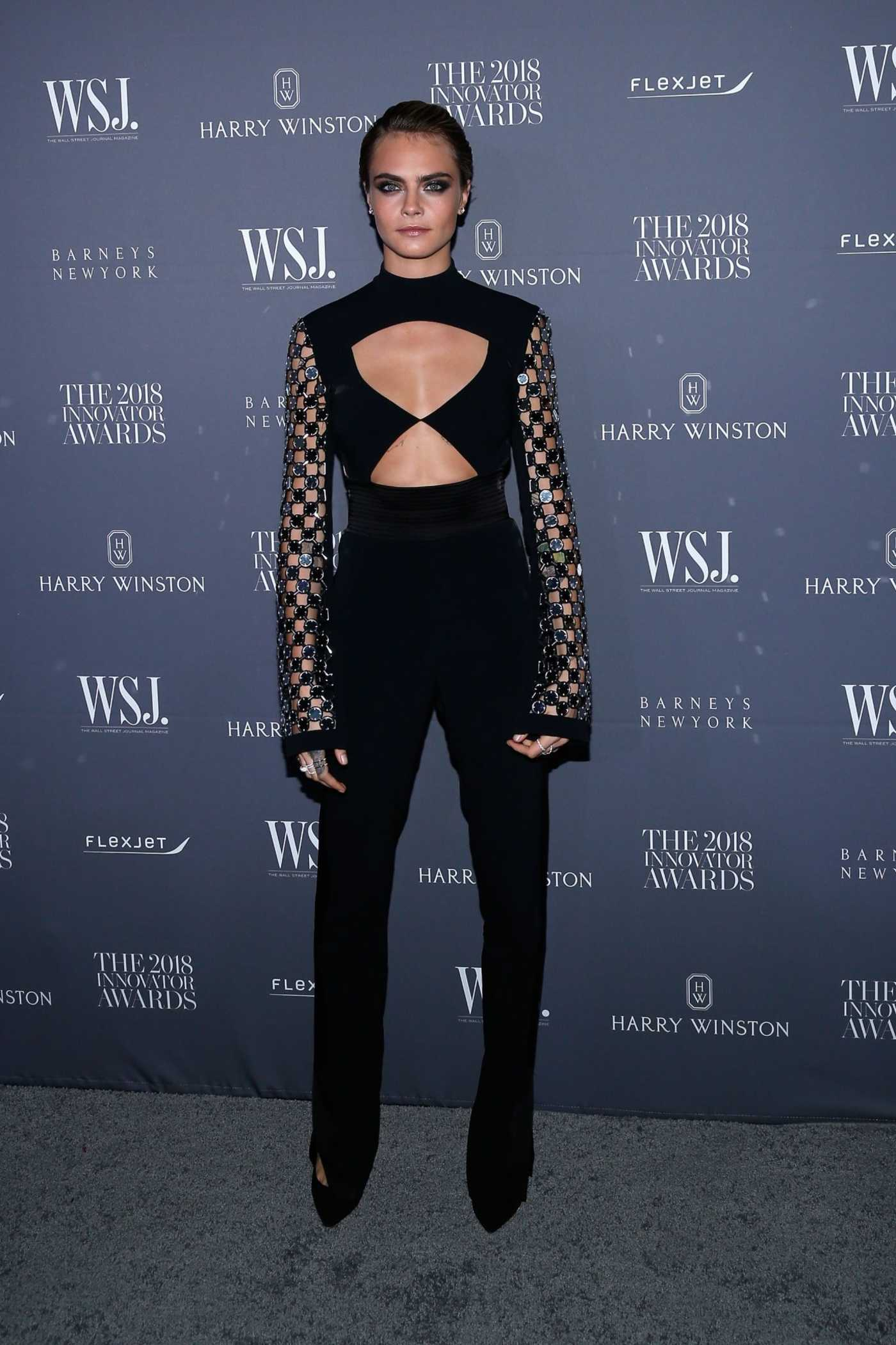Cara Delevingne Attends 2018 WSJ Magazine Innovator Awards in NYC 11/07/2018