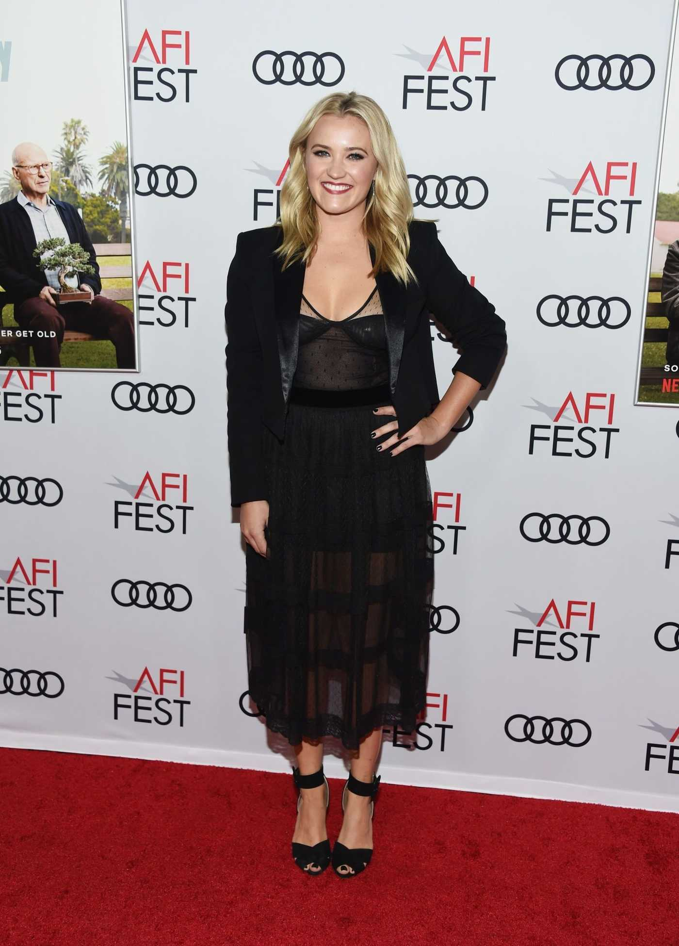 Emily Osment Attends the The Kominsky Method Screening During 2018 AFI FEST in Hollywood 11/09/2018
