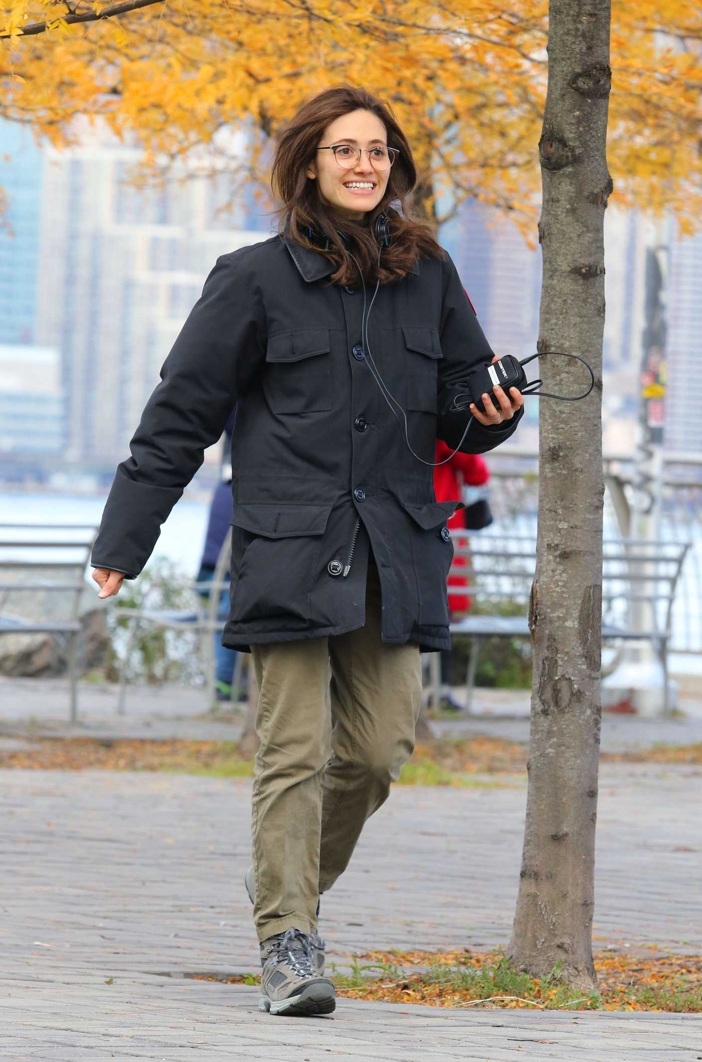 Emmy Rossum on the Set of Modern Love! in Manhattan, NYC 11/12/2018