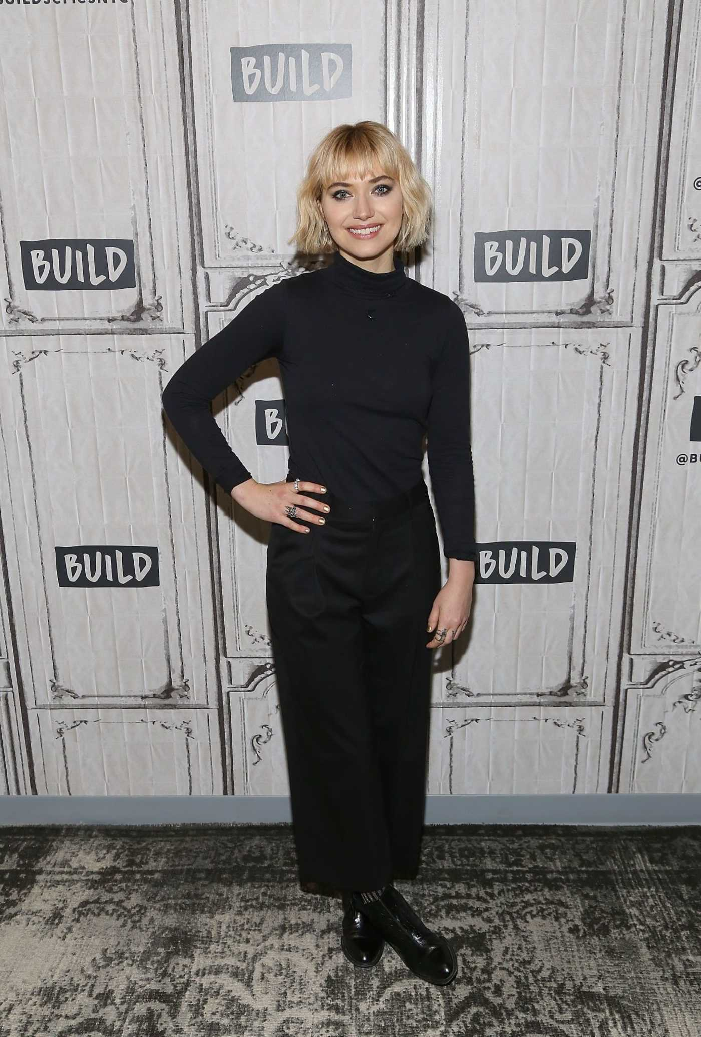Imogen Poots Visits AOL Build Studios in New York City 11/15/2018