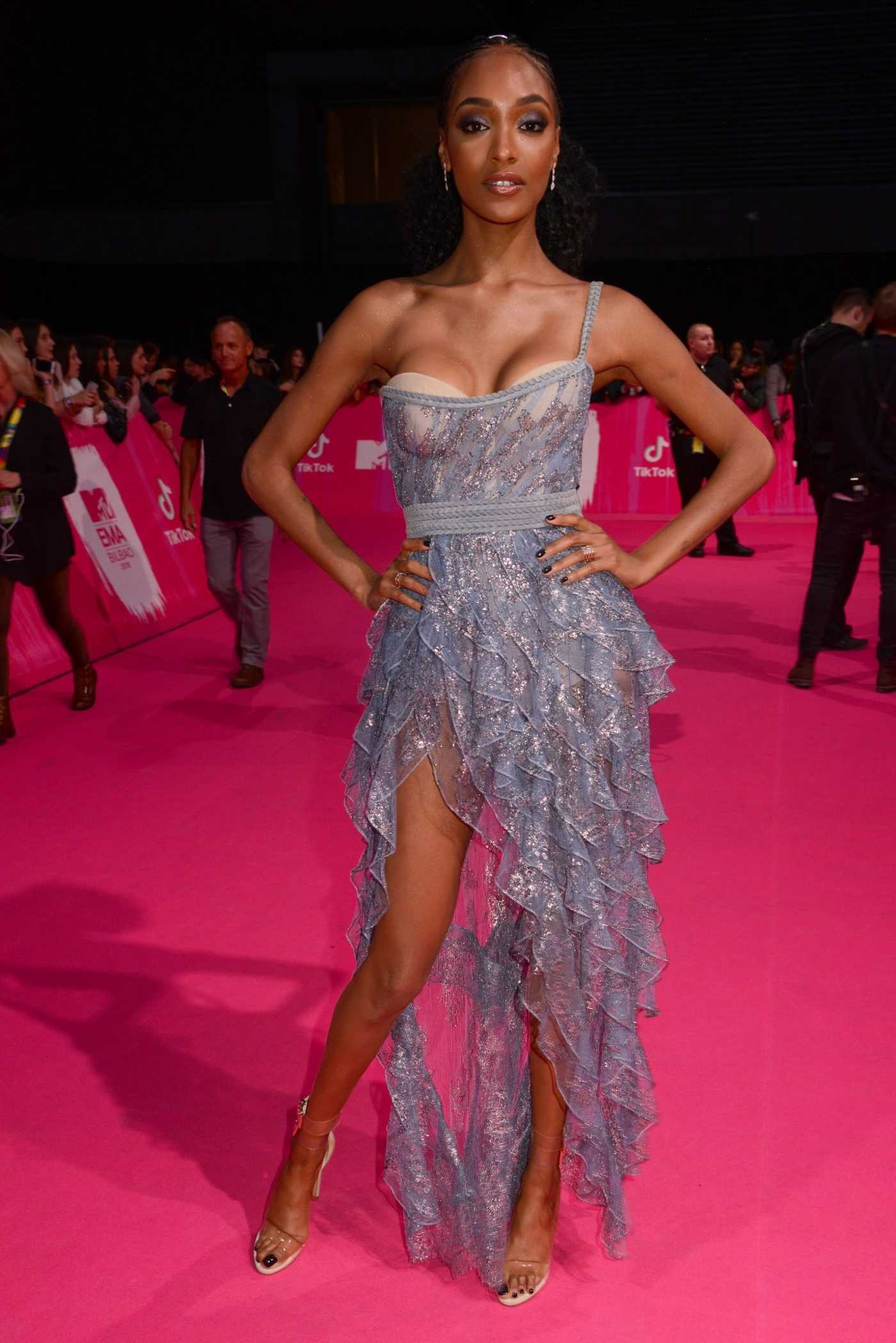 Jourdan Dunn Attends 2018 MTV EMAs at the Bilbao Exhibition Centre in Bilbao, Spain 11/04/2018