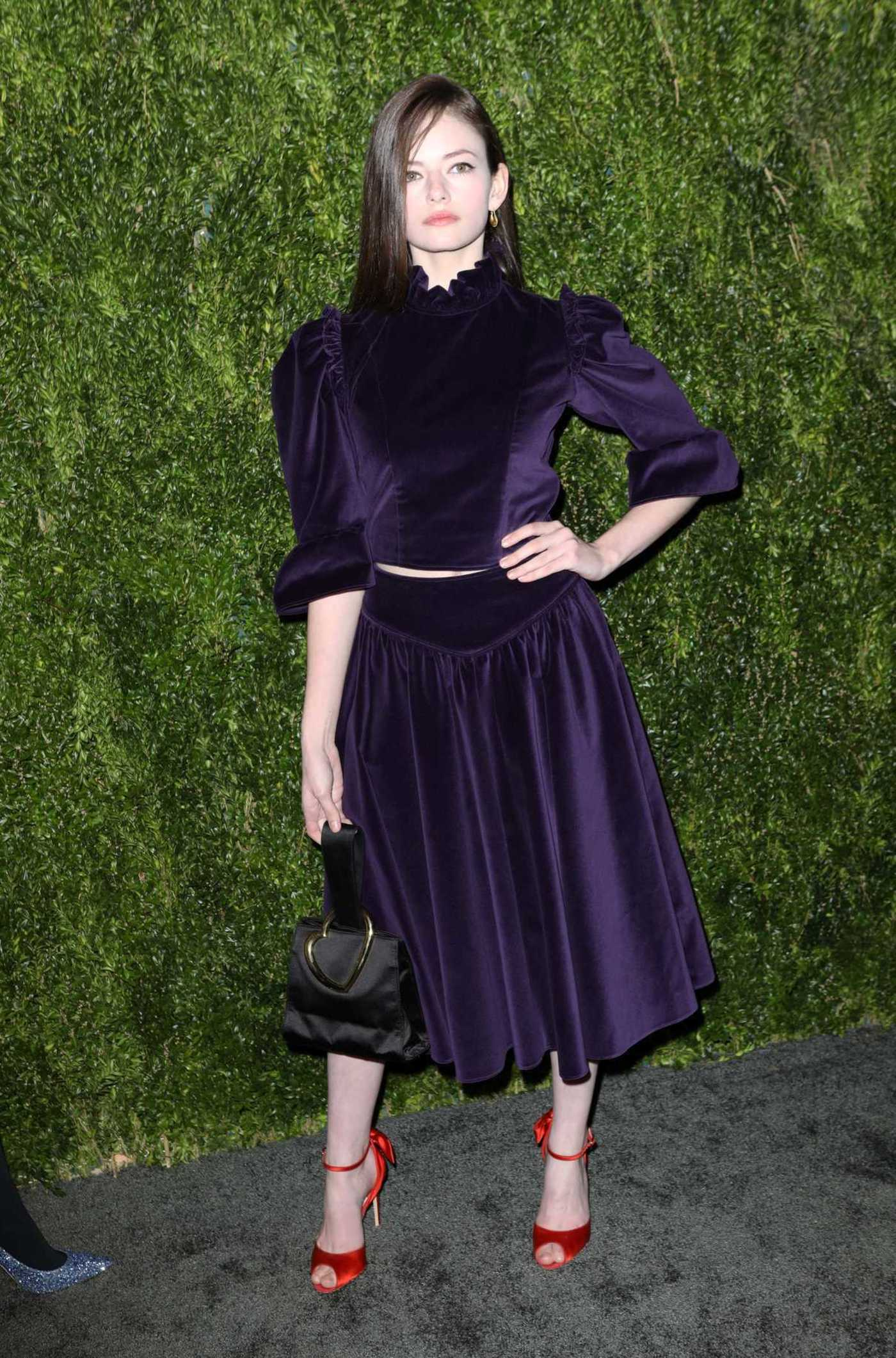 Mackenzie Foy Attends CFDA Vogue Fashion Fund 15th Anniversary Awards in NYC 11/05/2018
