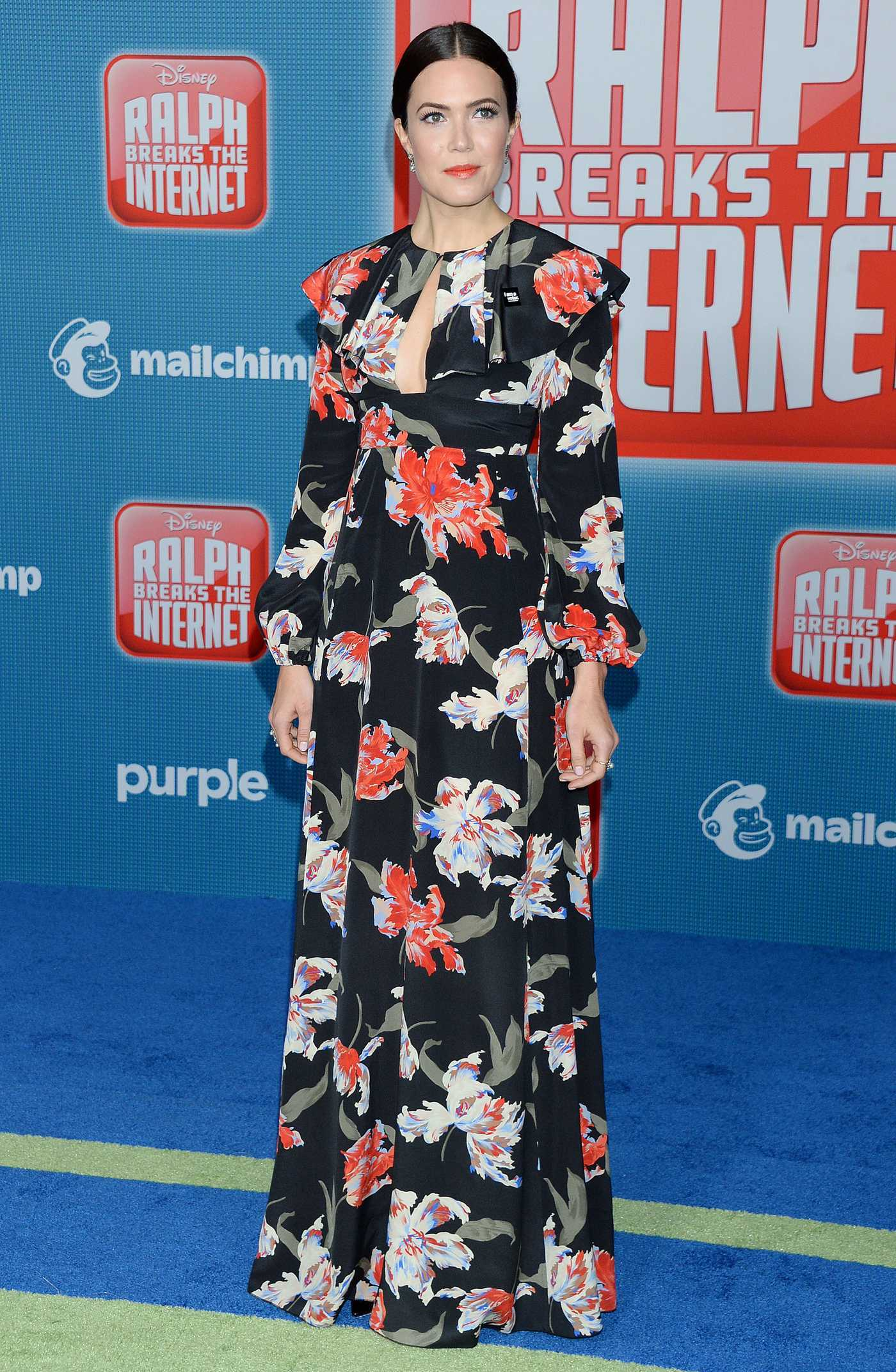 Mandy Moore Attends the Ralph Breaks the Internet Premiere in Hollywood 11/05/2018