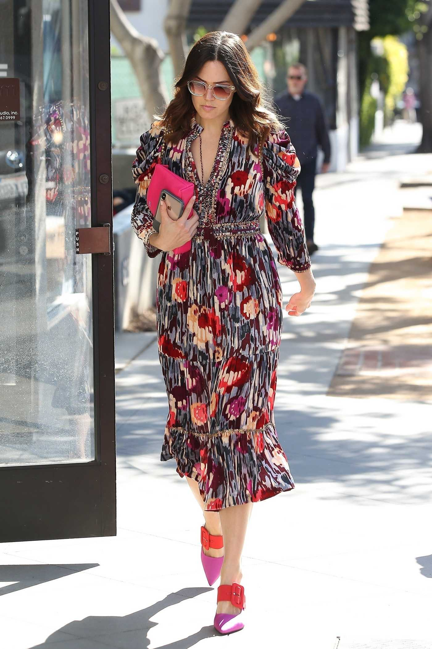 Mandy Moore in a Colorful Dress Was Seen Out in Beverly Hills 11/14/2018