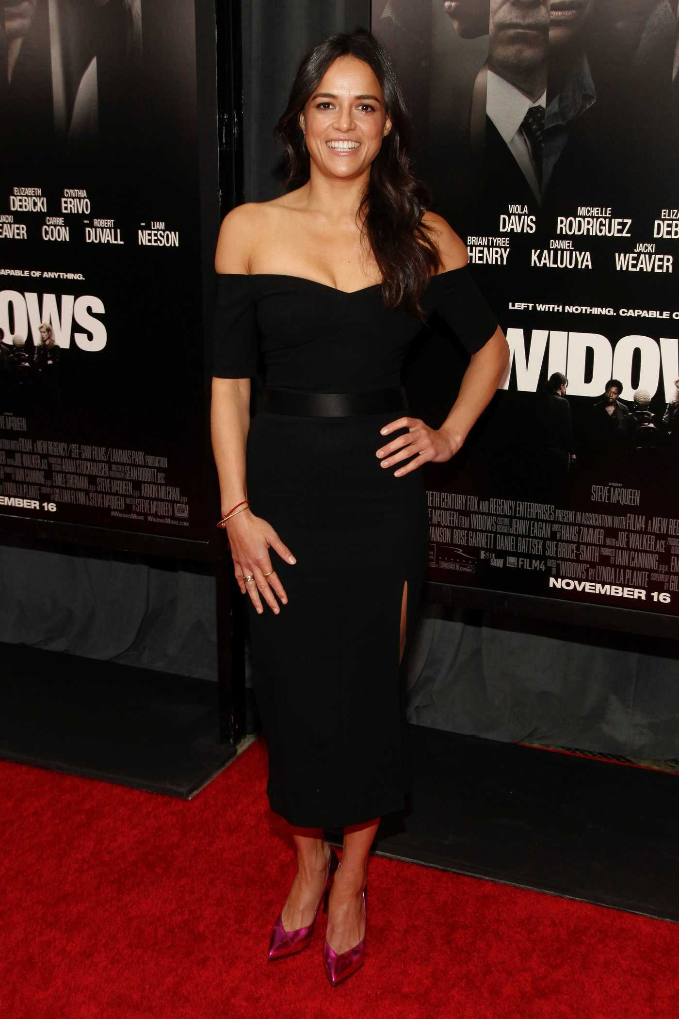 Michelle Rodriguez Attends the Widows Special Screening in New York 11/11/2018