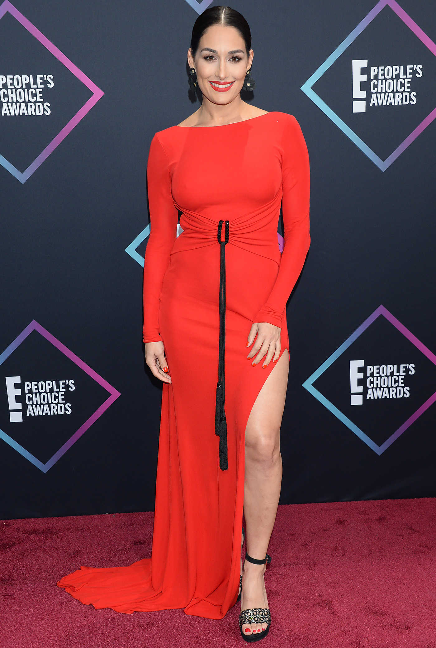 Nikki Bella Attends 2018 People's Choice Awards in Santa Monica 11/11/2018