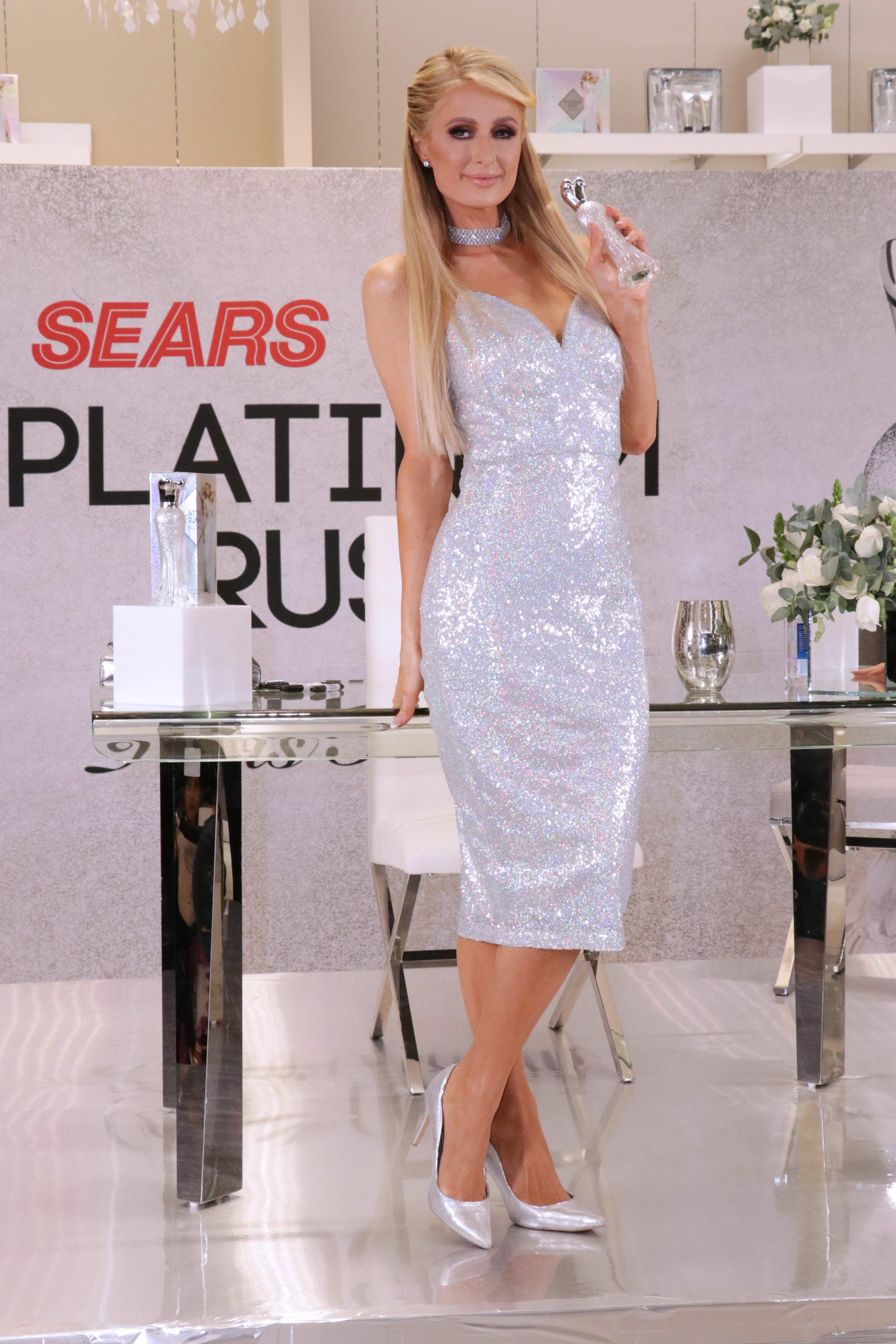 Paris Hilton Attends Platinum Rush Perfum Launch Event in Mexico City 11/11/2018