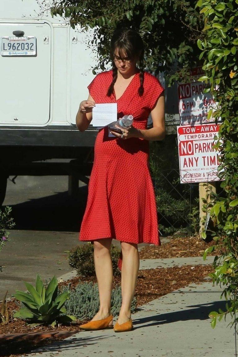 Shailene Woodley in a Red Dress