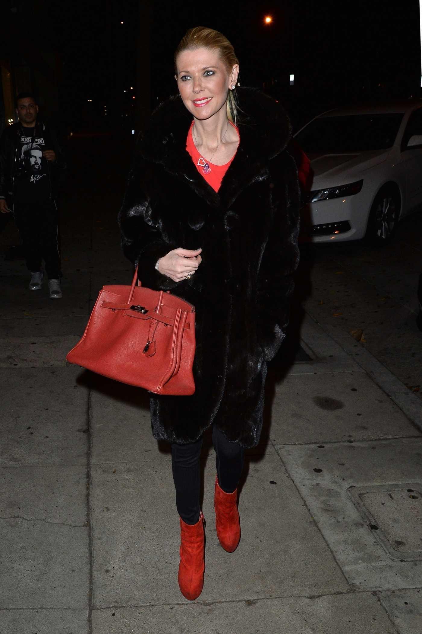 Tara Reid Arrives at Craig's Restaurant in West Hollywood 11/26/2018