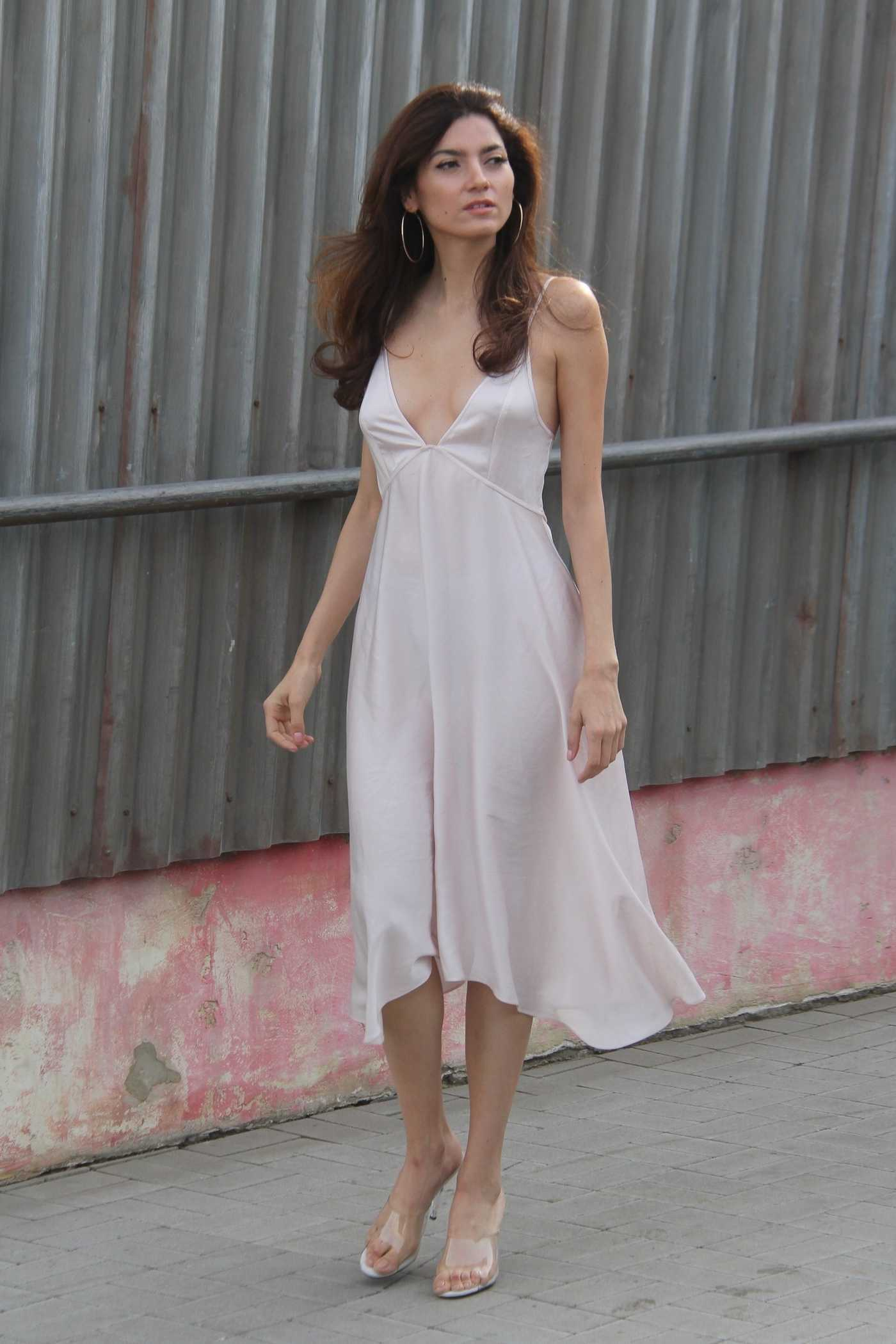Blanca Blanco in a White Dress Was Seen Out in Malibu 12/22/2018
