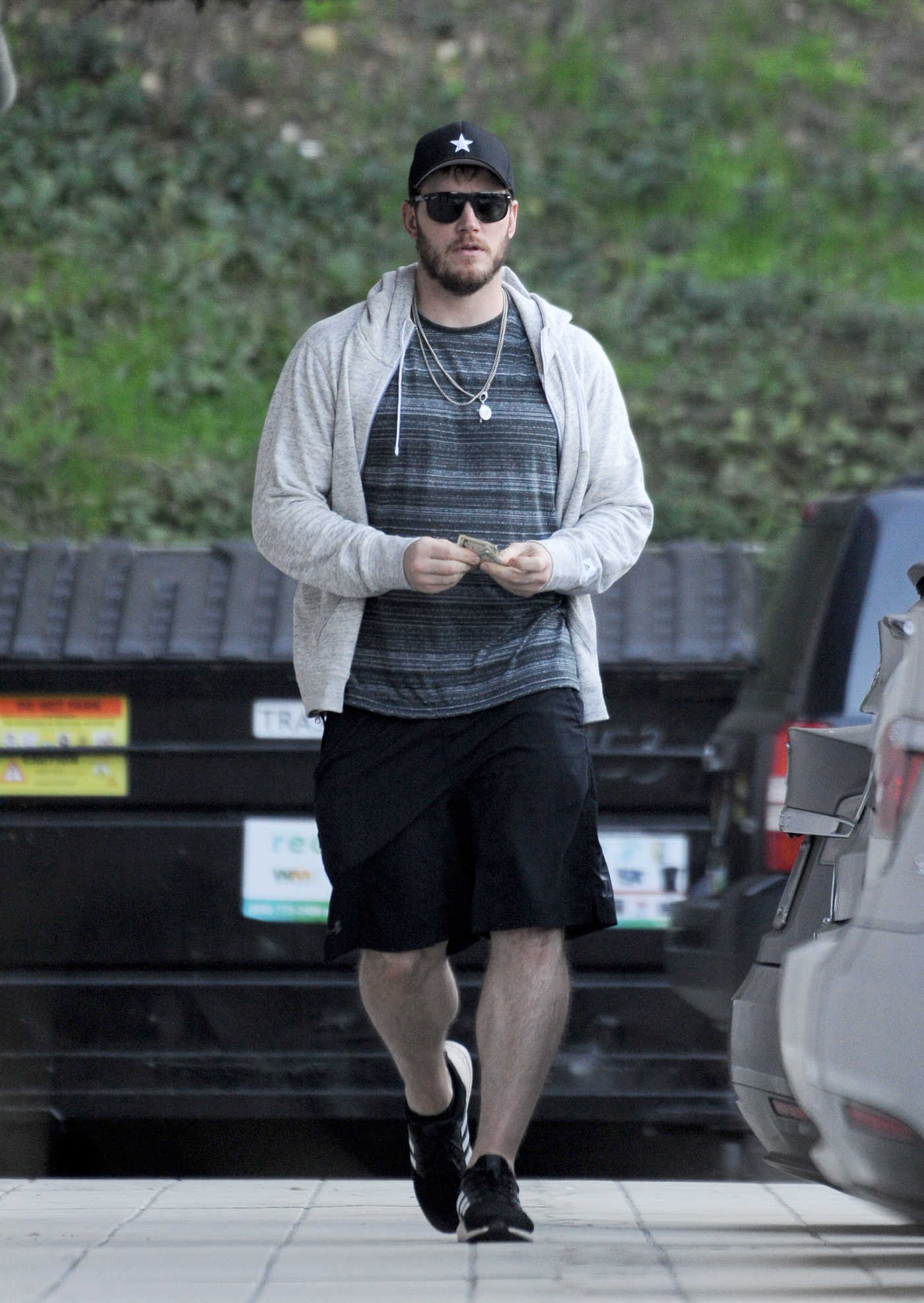 Chris Pratt in a Black Adidas Sneakers Was Seen Out in Studio City 12/27/2018