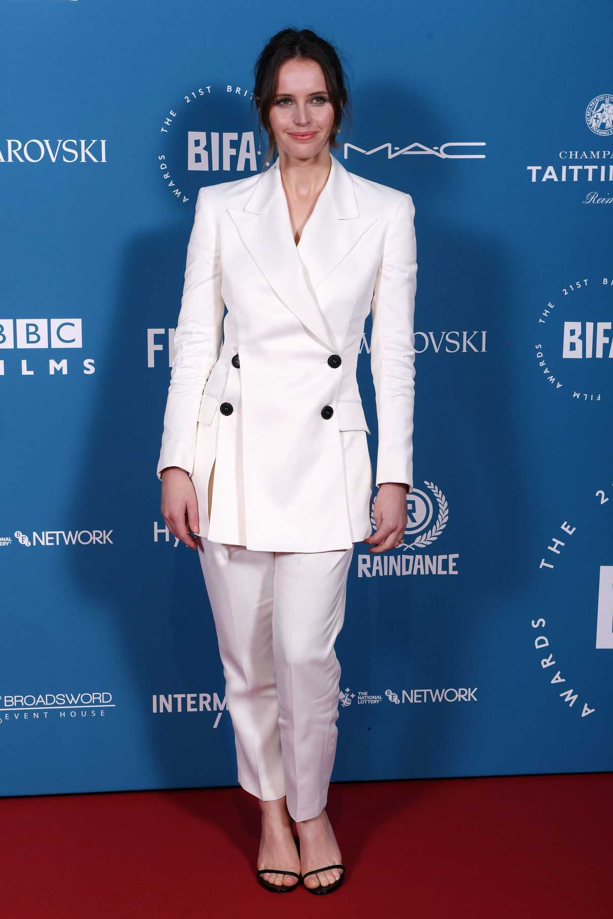 Felicity Jones Attends the 21st British Independent Film Awards in London 12/02/2018