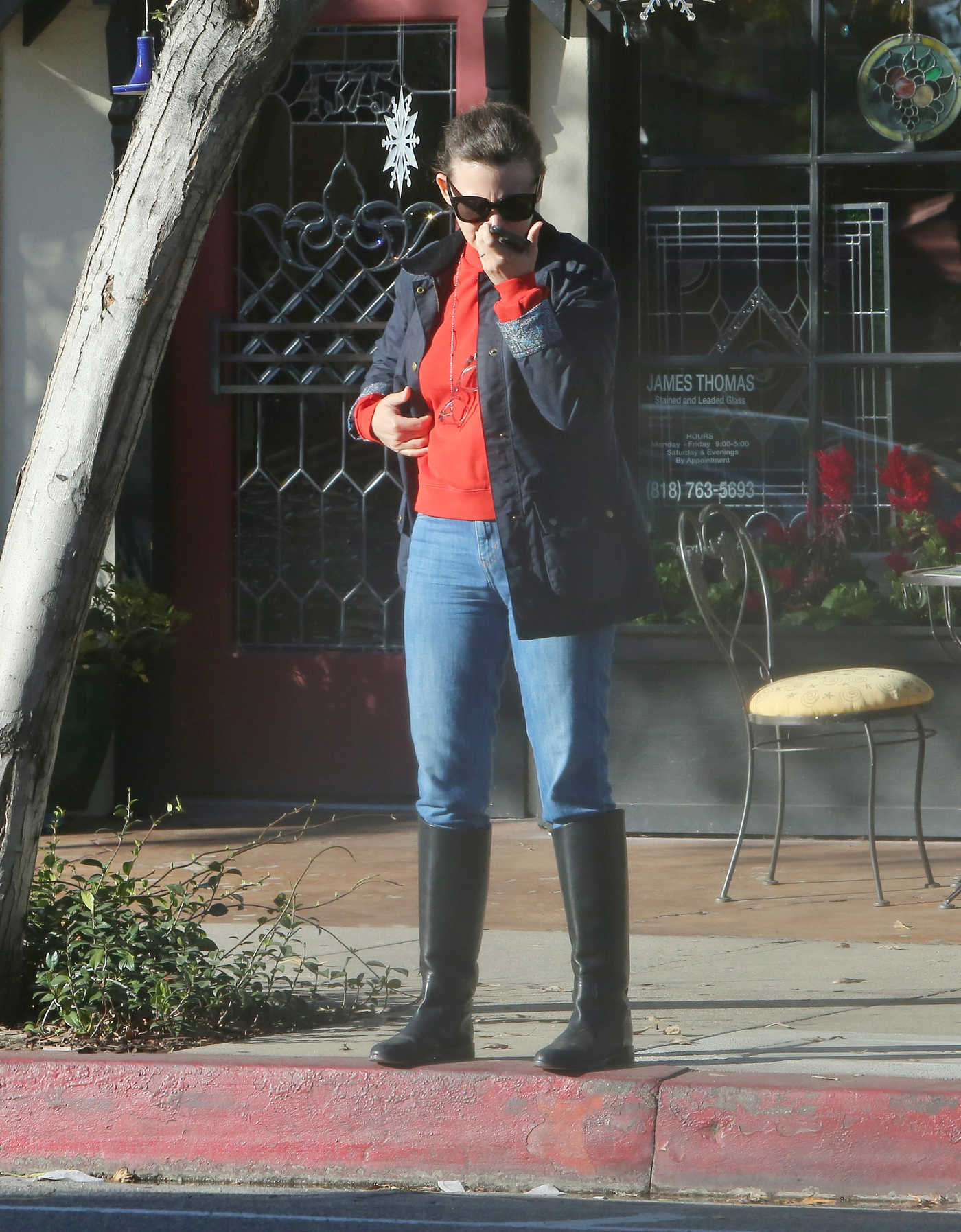 Ginnifer Goodwin in a Red Turtleneck Was Seen Out in Los Angeles 12/14/2018