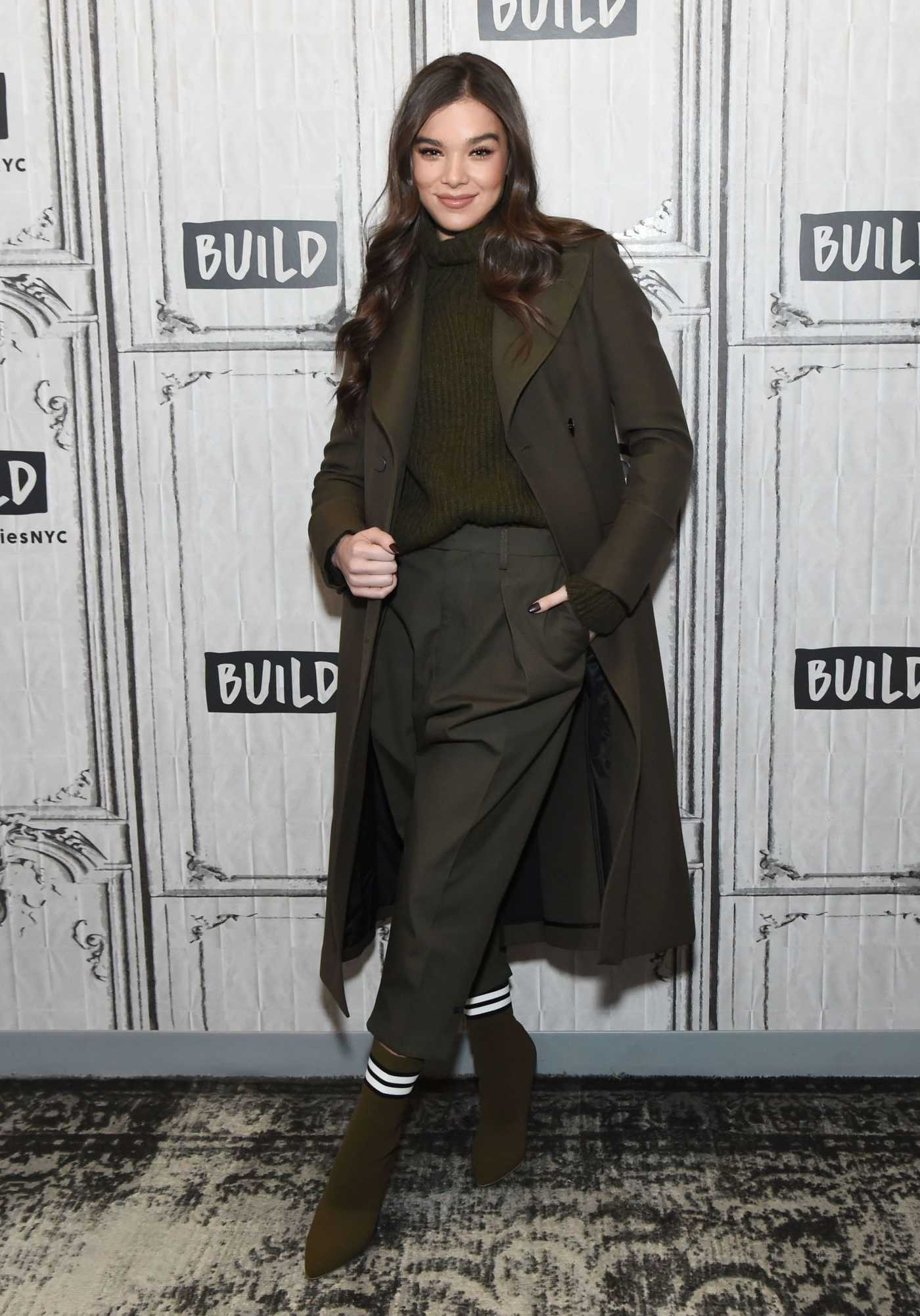Hailee Steinfeld Visits AOL Build Series in NYC 12/18/2018
