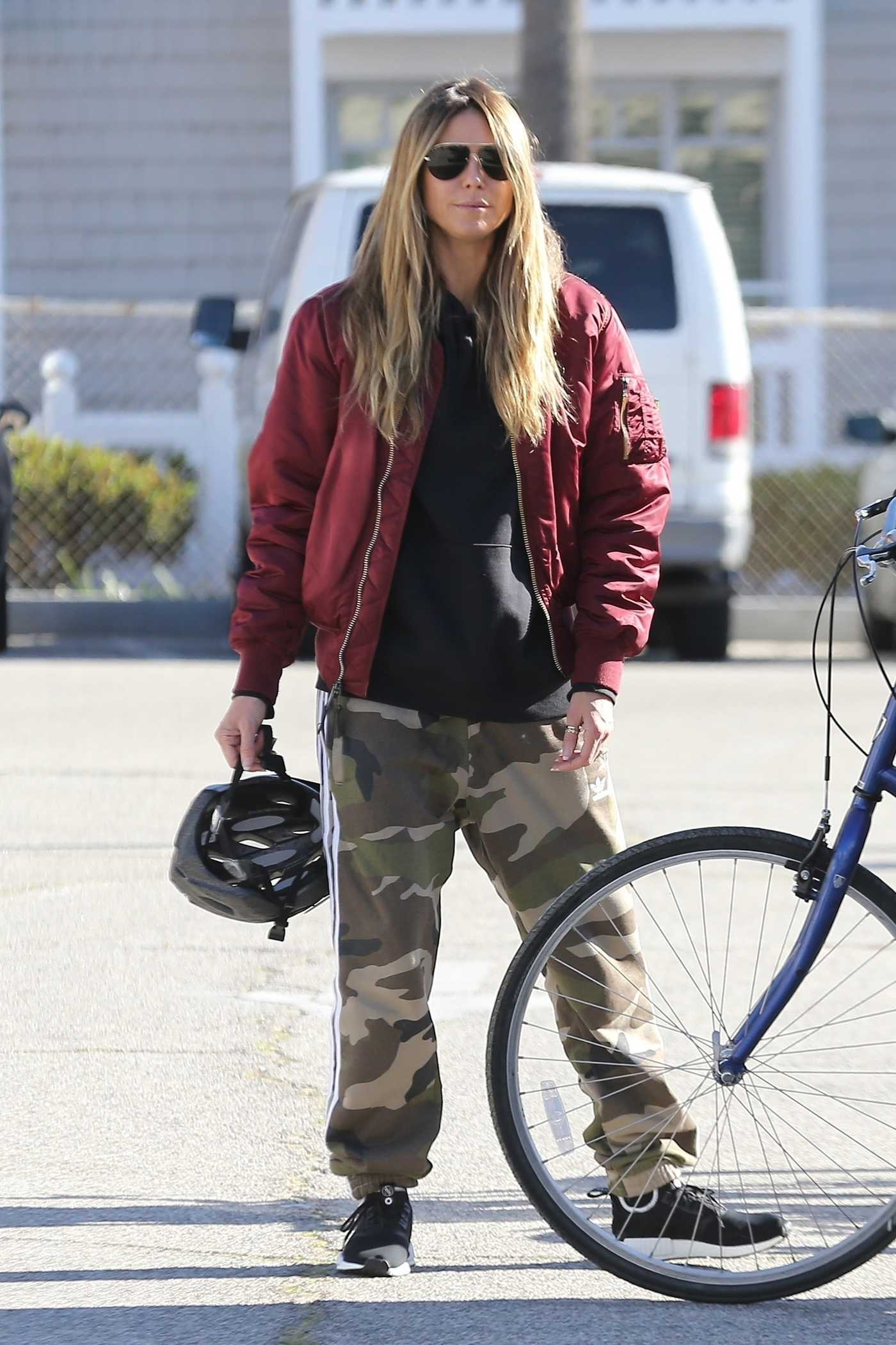 Heidi Klum Was Seen Out for a Bike Ride in Santa Monica 12/29/2018