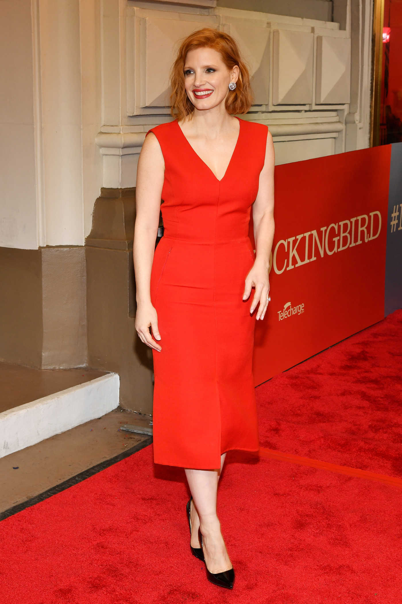 Jessica Chastain Attends To Kill A Mockingbird Broadway Opening Night in NYC 12/13/2018