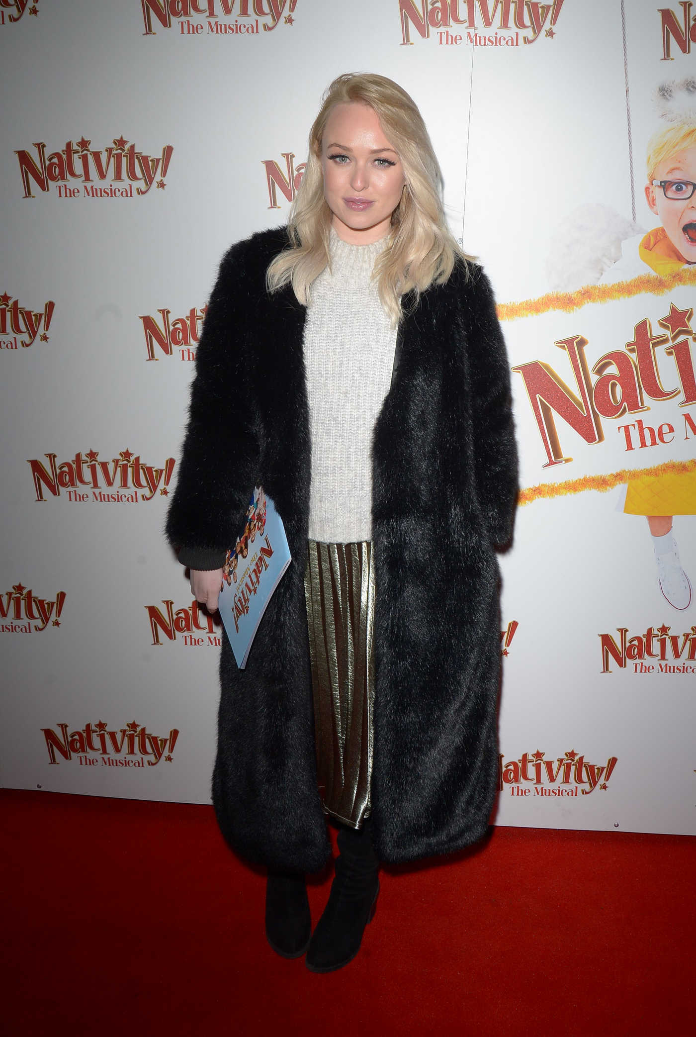 Jorgie Porter Attends Nativity! The Musical Press Night in London 12/20/2018