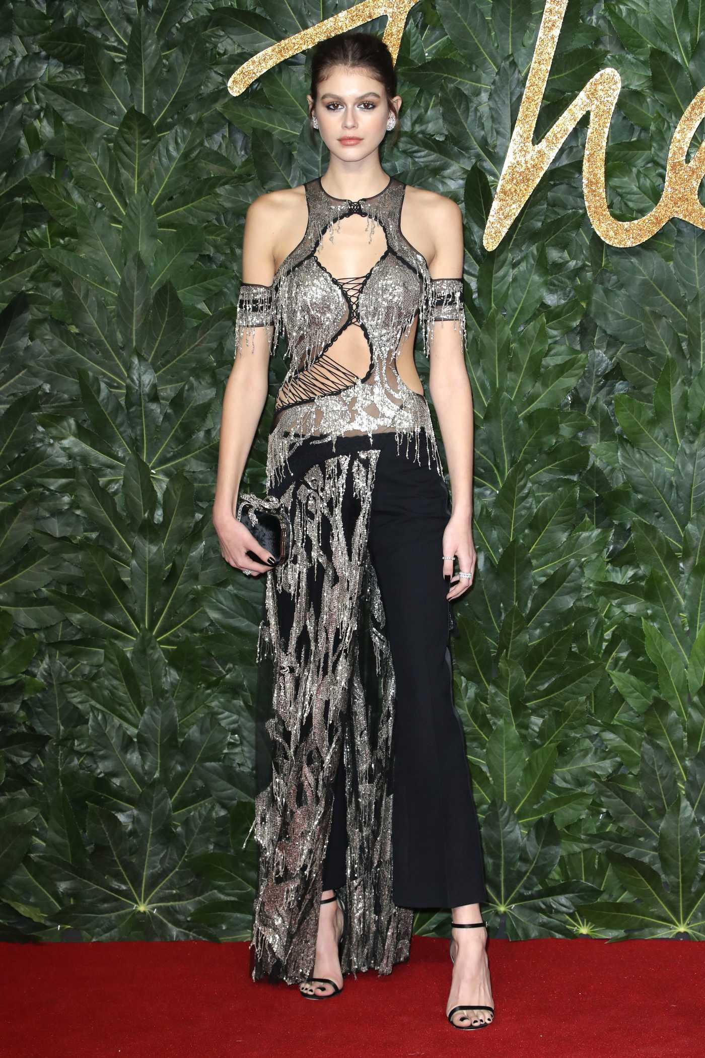 Kaia Gerber Attends 2018 British Fashion Awards in London 12/10/2018