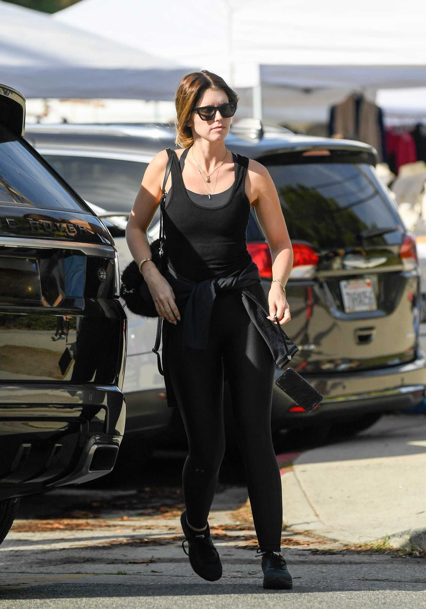 Katherine Schwarzenegger in a Black Tank Top Was Seen Out in Brentwood 12/26/2018