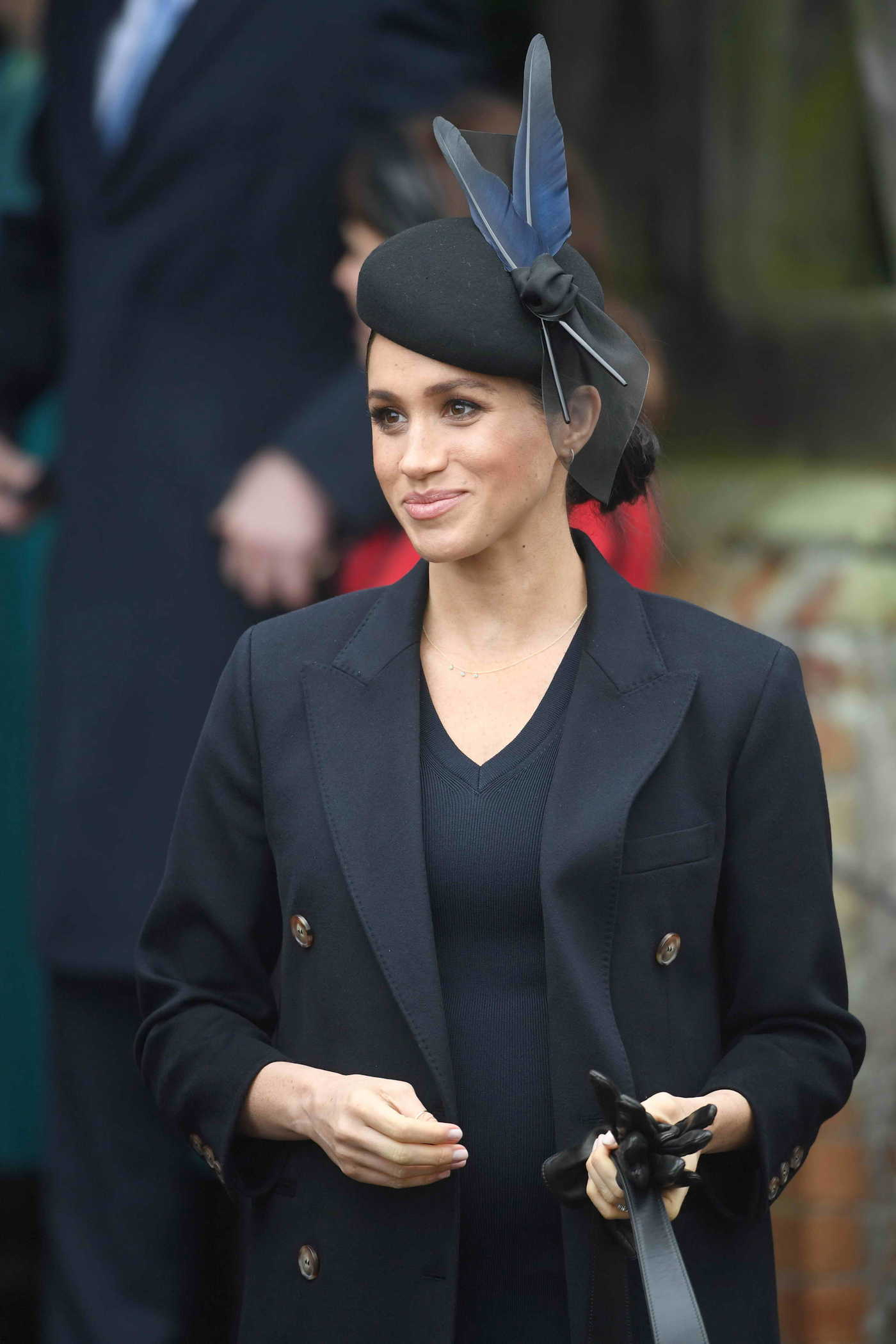Meghan Markle Attends Christmas Day Church Service in King's Lynn 12/25/2018