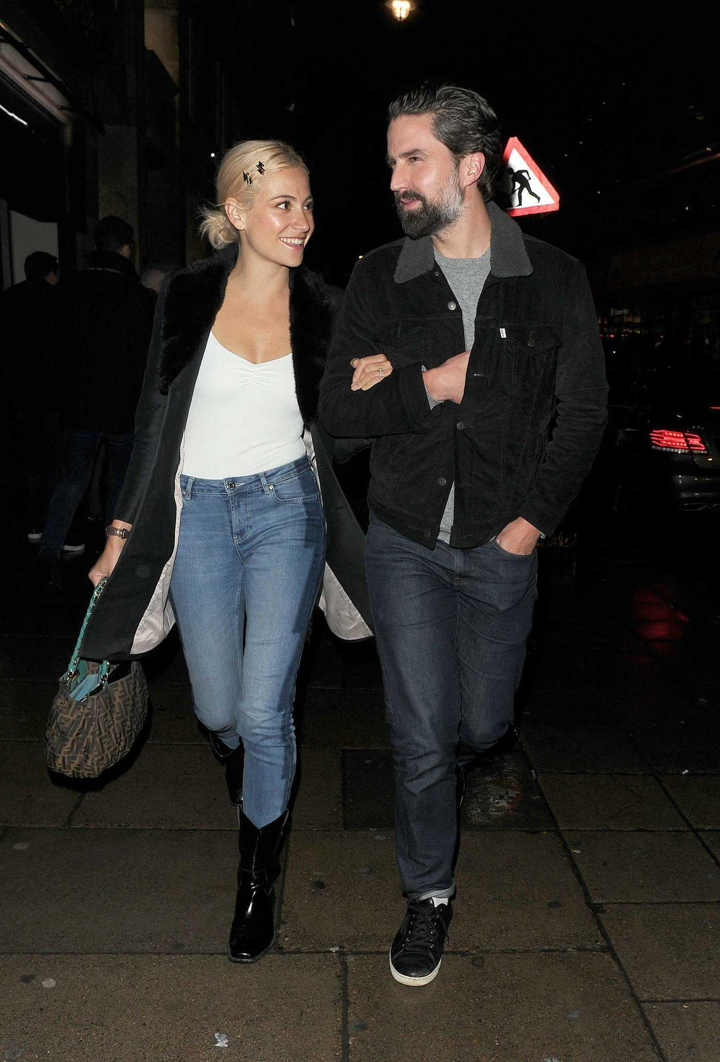 Pixie Lott Out with Jack Guinness Leaves the Phoenix Theatre in London 12/18/2018
