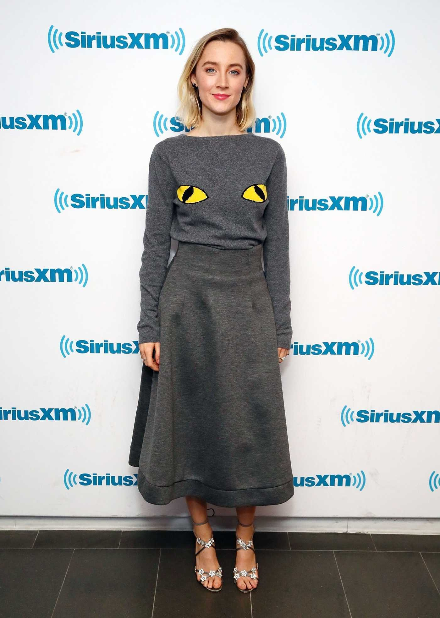 Saoirse Ronan Visits the SiriusXM Studios in New York City 12/17/2018