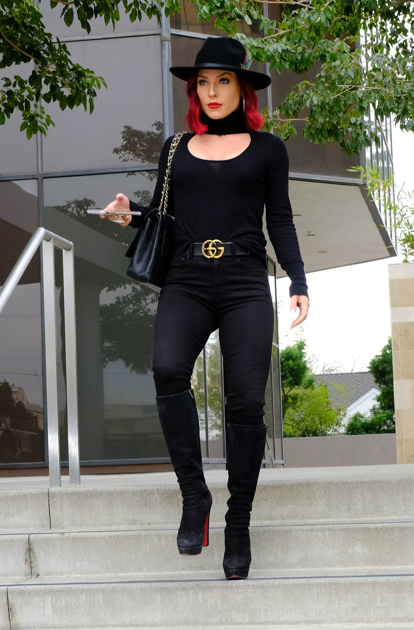 Sharna Burgess in a Black Hat Was Seen Out in Los Angeles 12/14/2018