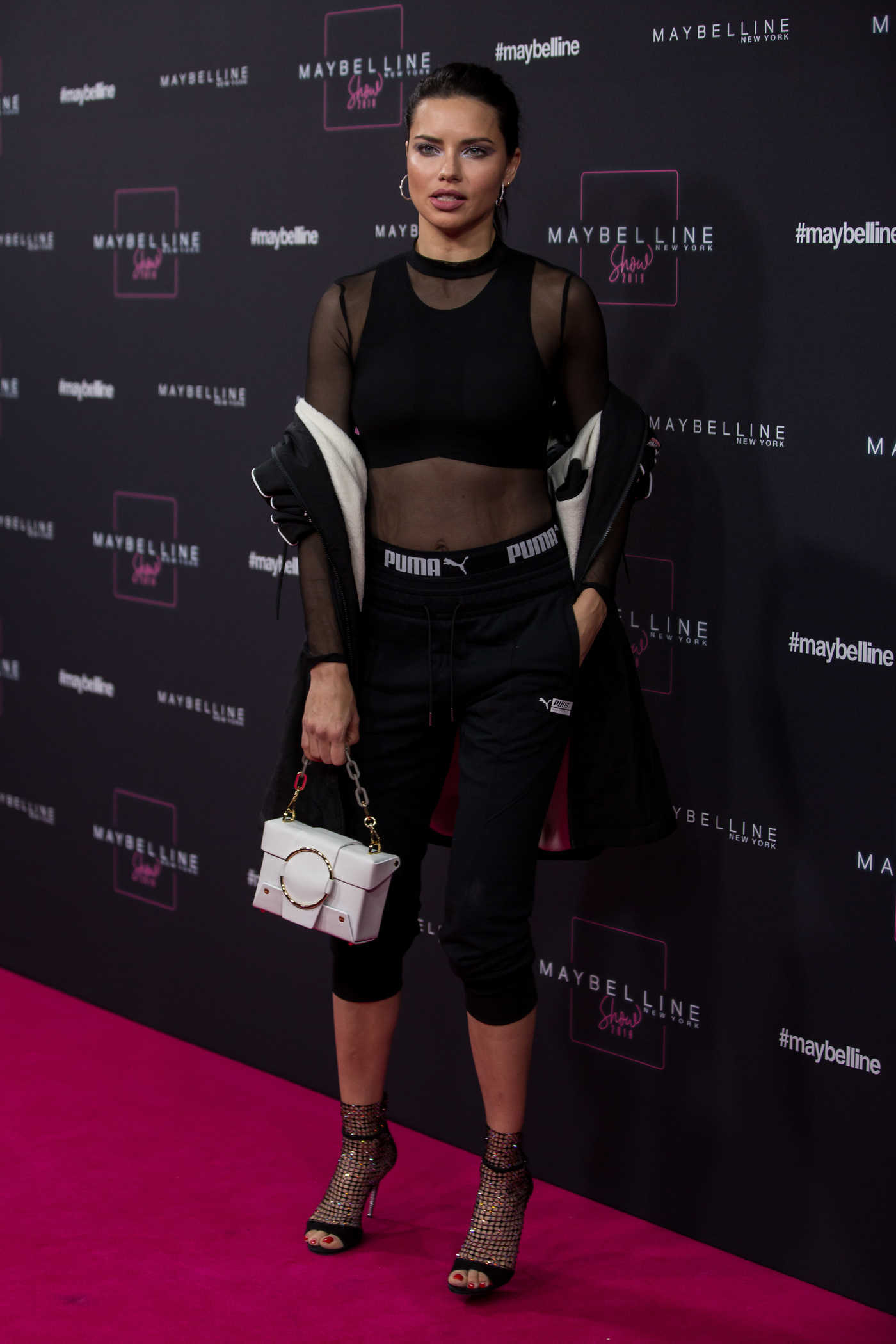 Adriana Lima Attends Maybelline Fashion Show During the Mercedes-Benz Fashion Week in Berlin 01/17/2019
