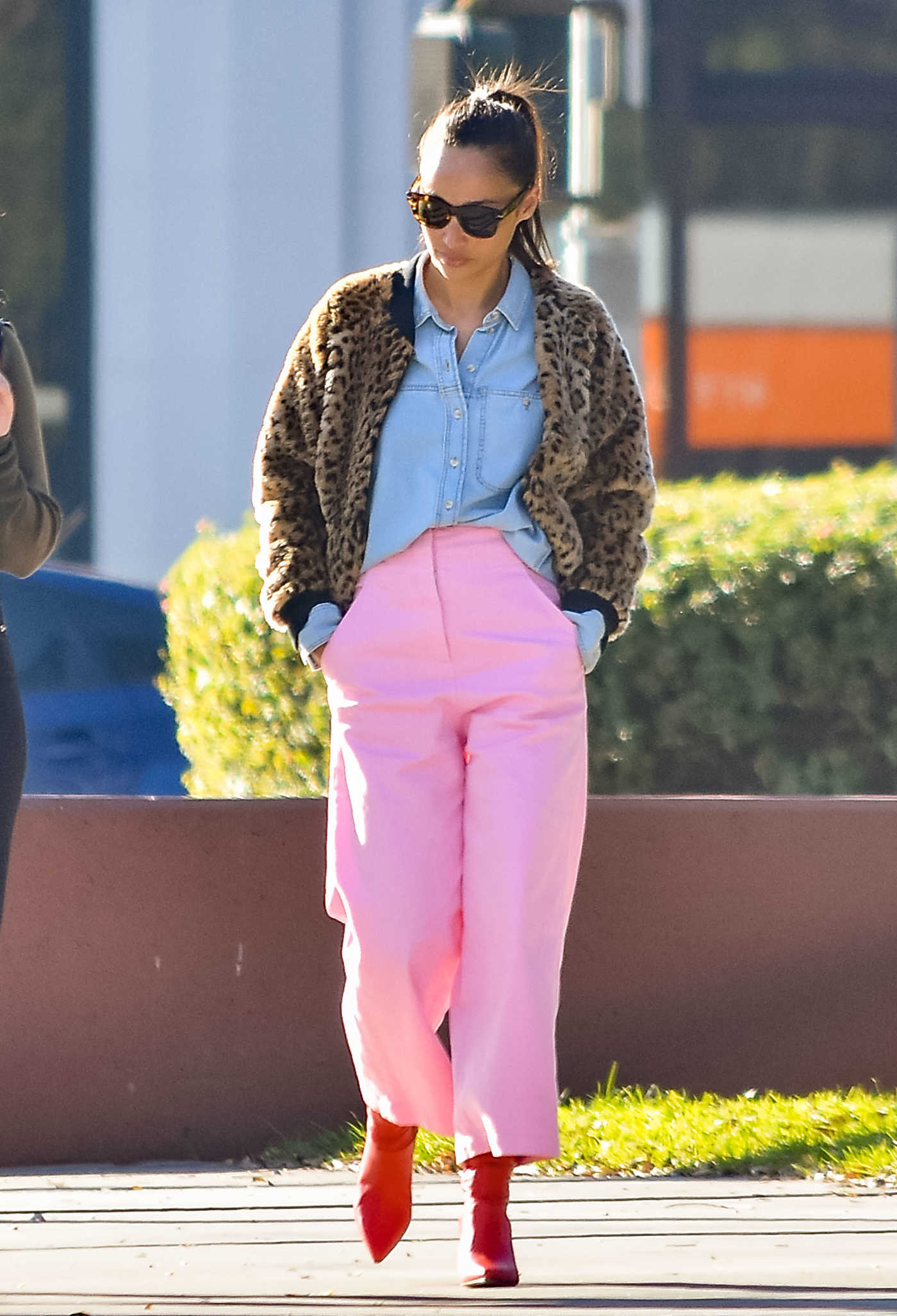 Cara Santana in a Pink Pants Was Seen Out in Los Angeles 01/04/2019