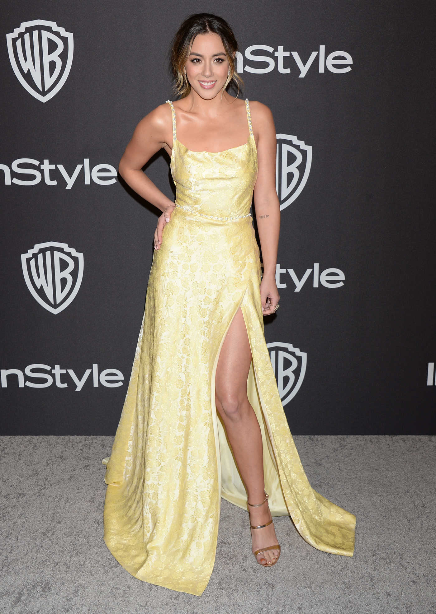 Chloe Bennet Attends InStyle and Warner Bros Golden Globes After Party in Beverly Hills 01/06/2019