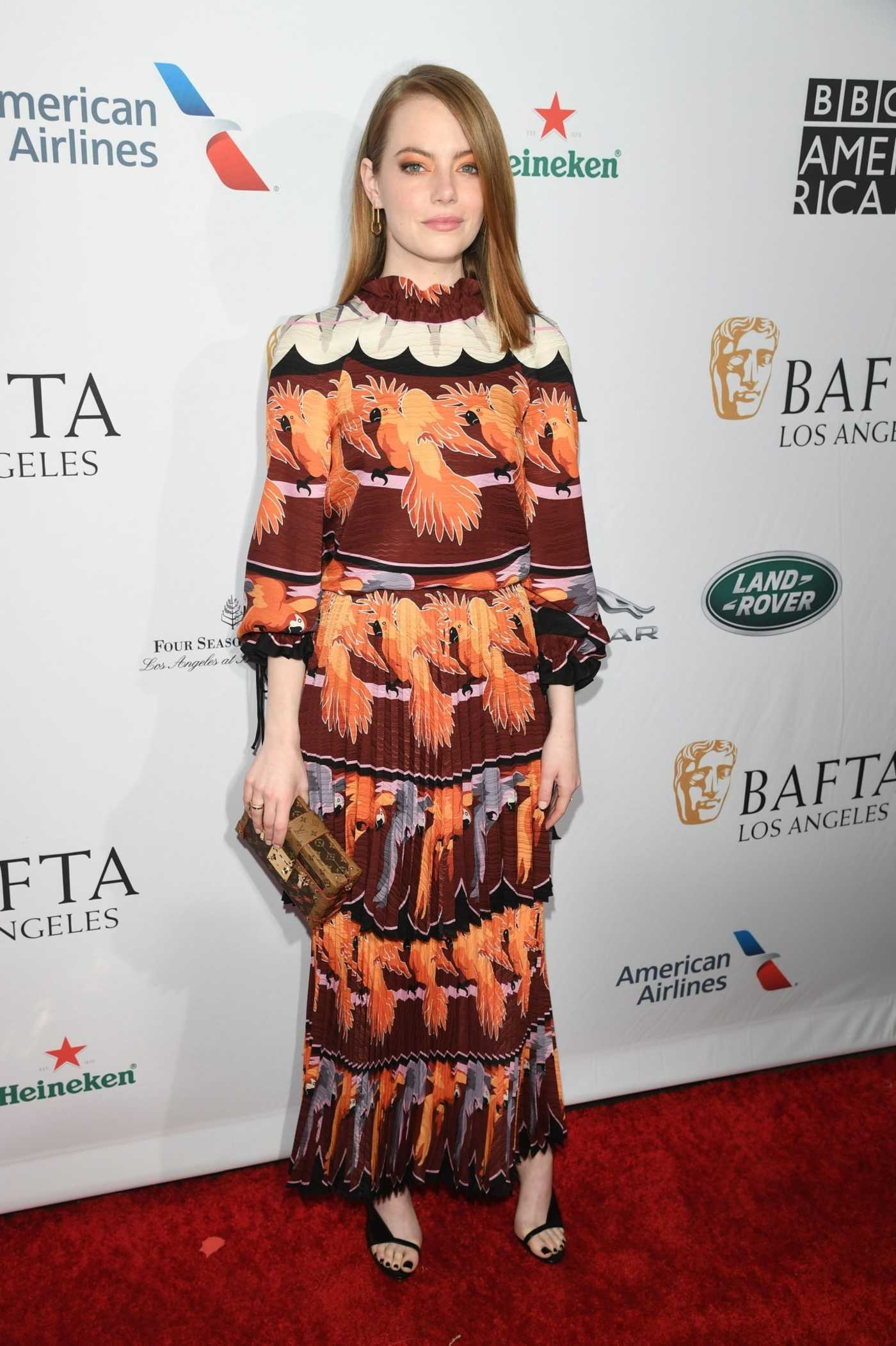 Emma Stone Attends BAFTA Tea Party in LA 01/05/2019
