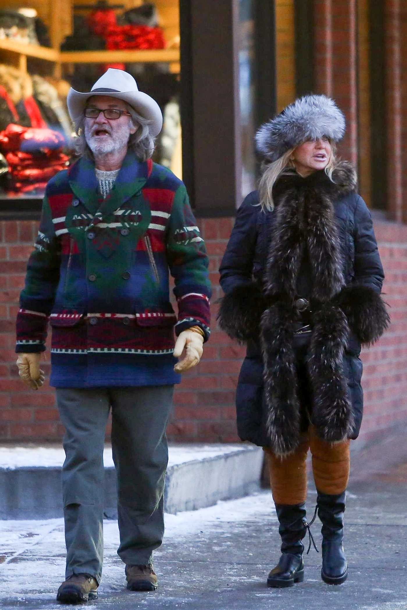 Goldie Hawn Was Seen Out with Kurt Russell on New Years Day in Aspen 01/01/2019