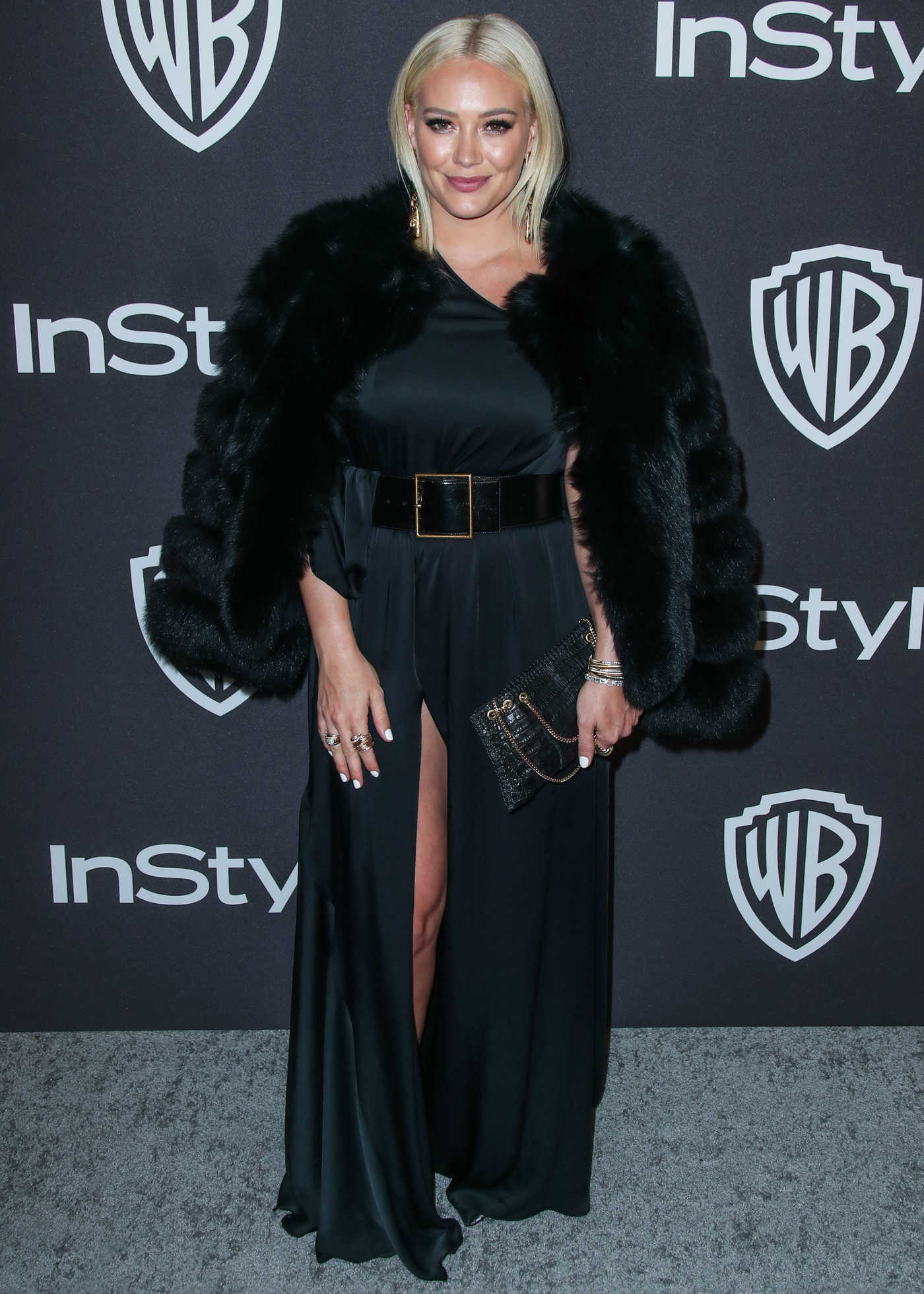 Hilary Duff Attends InStyle and Warner Bros Golden Globes After Party in Beverly Hills 01/06/2019
