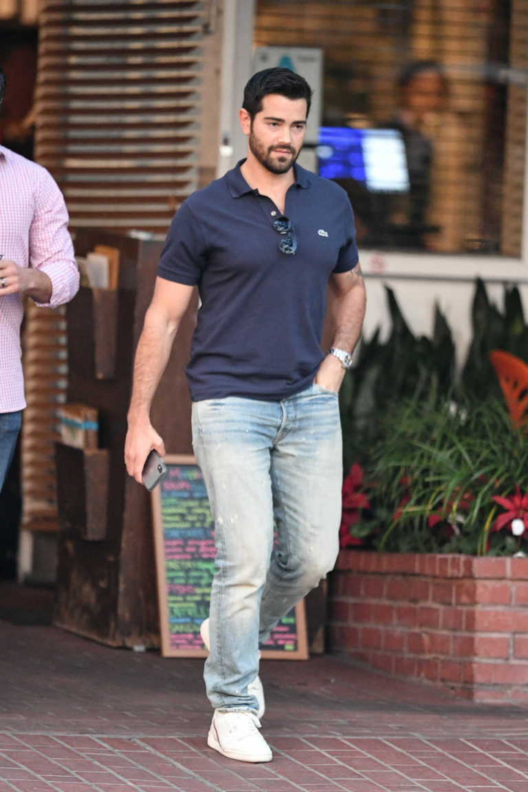Jesse Metcalfe in a Blue Lacosta Polo