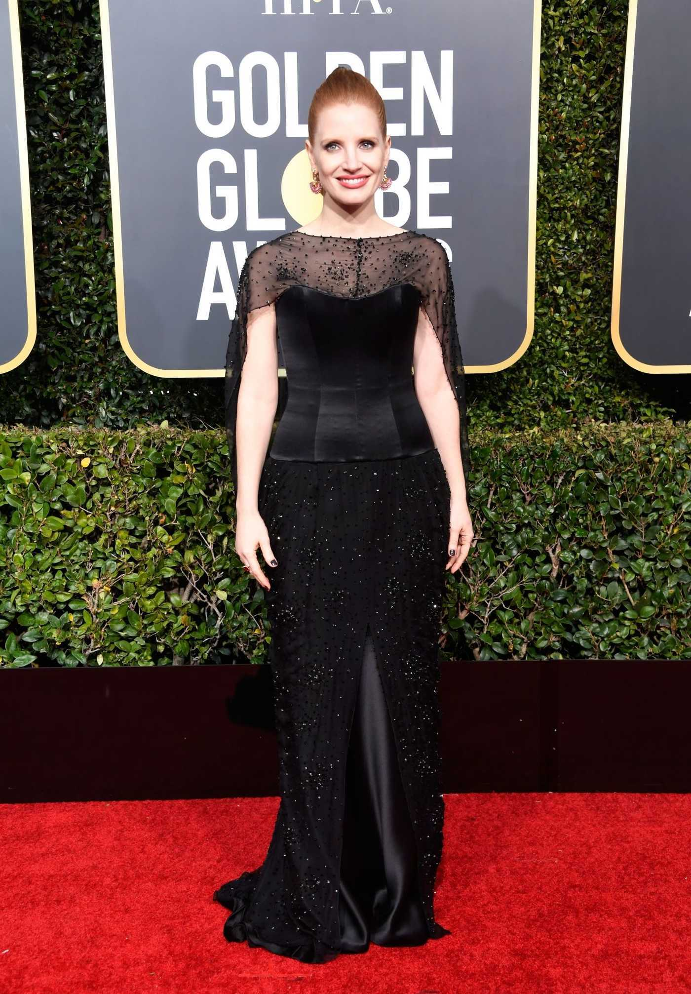 Jessica Chastain Attends the 76th Annual Golden Globe Awards in Beverly Hills 01/06/2019
