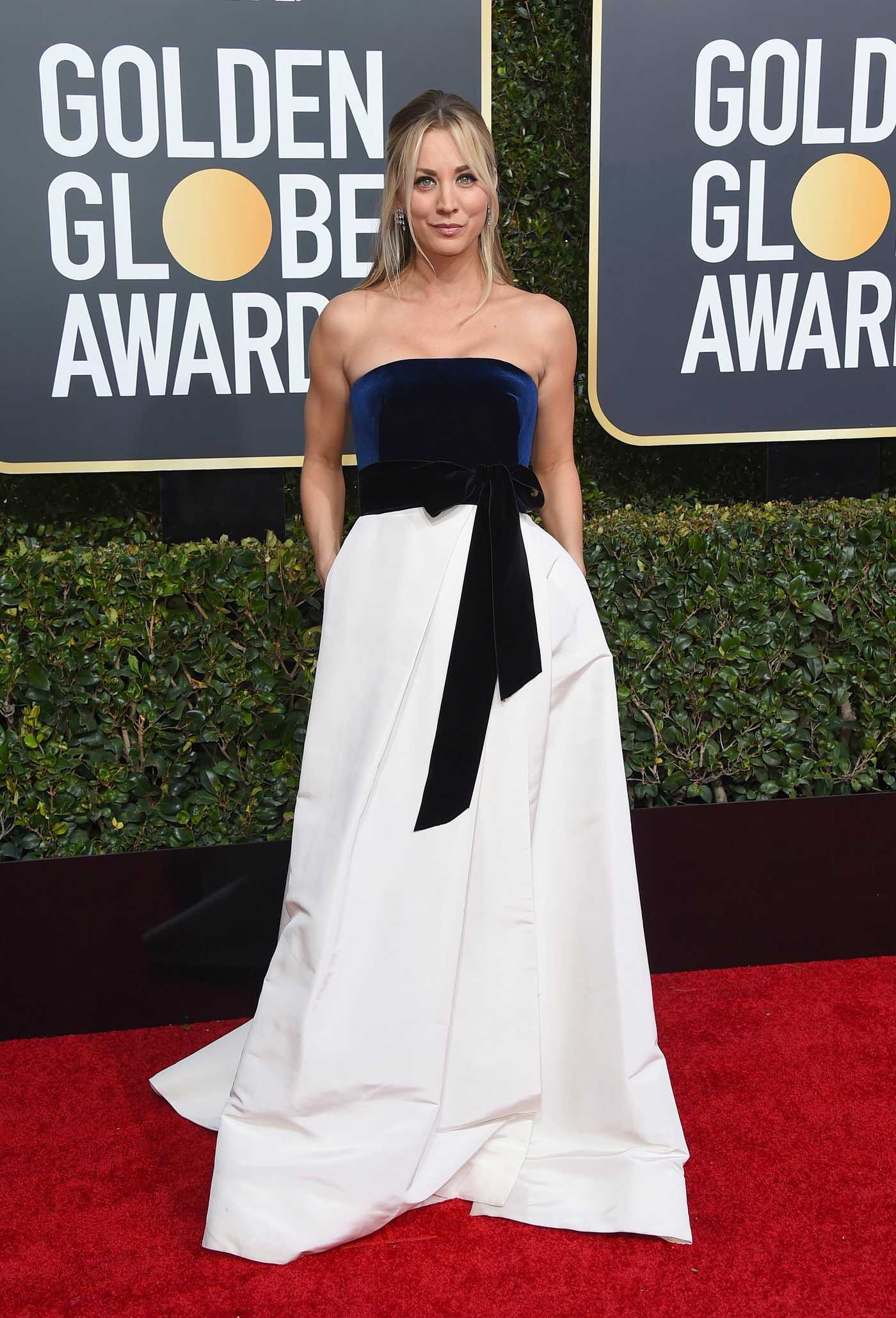 Kaley Cuoco Attends the 76th Annual Golden Globe Awards in Beverly Hills 01/06/2019