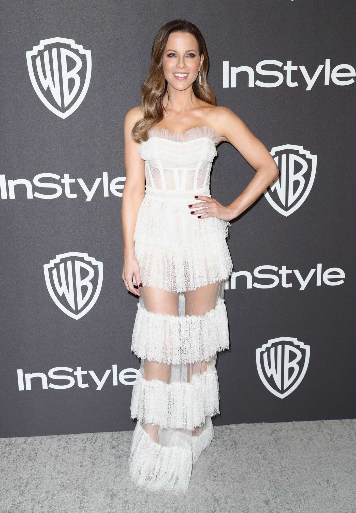 Kate Beckinsale Attends InStyle and Warner Bros Golden Globes After Party in Beverly Hills 01/06/2019