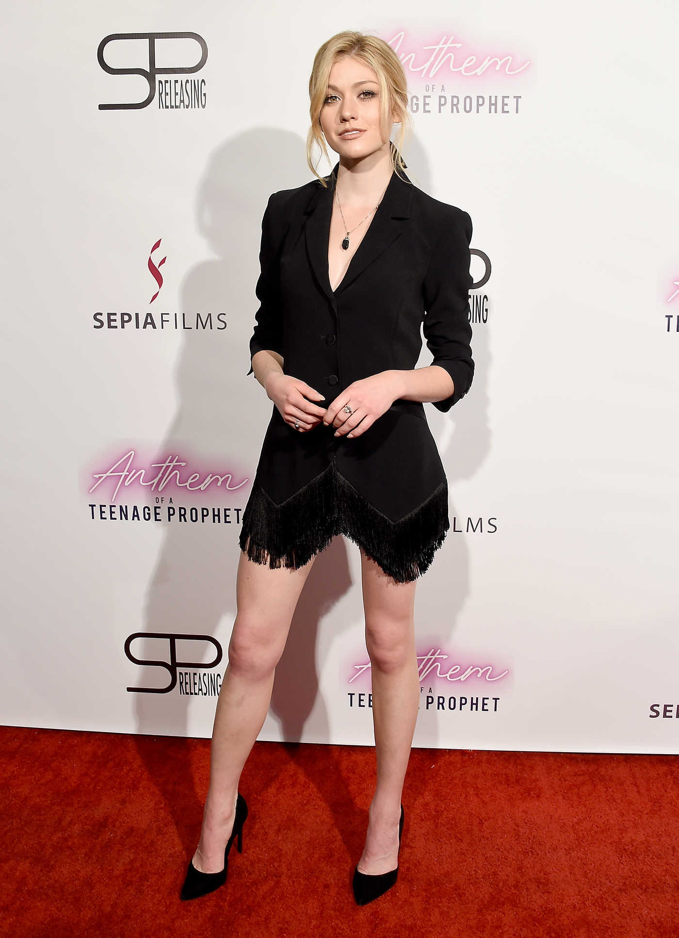 Katherine McNamara Attends Anthem of a Teenage Prophet Premiere in Hollywood 01/10/2019