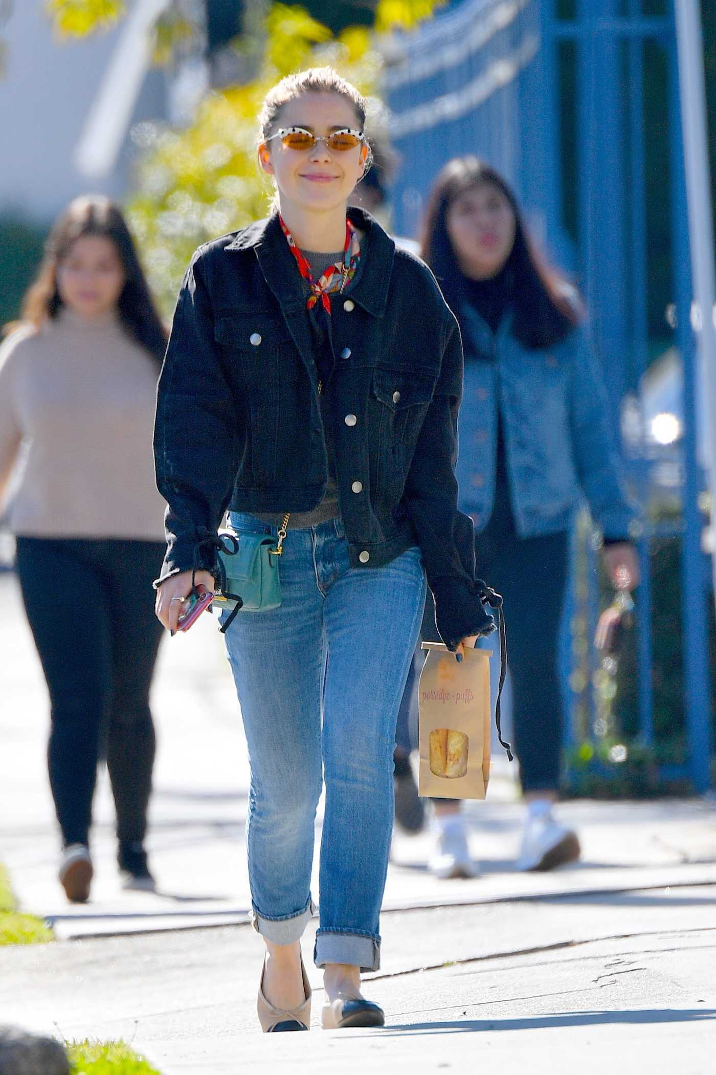 Kiernan Shipka in a Blue Jeans Was Seen Out in Los Angeles 01/24/2019