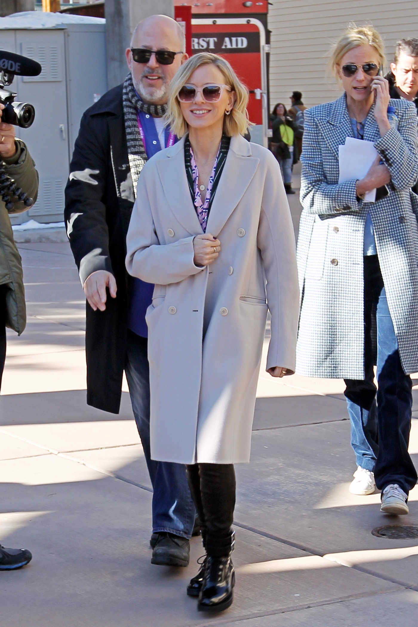 Naomi Watts in a Beige Coat Was Seen Out in Park City 01/26/2019