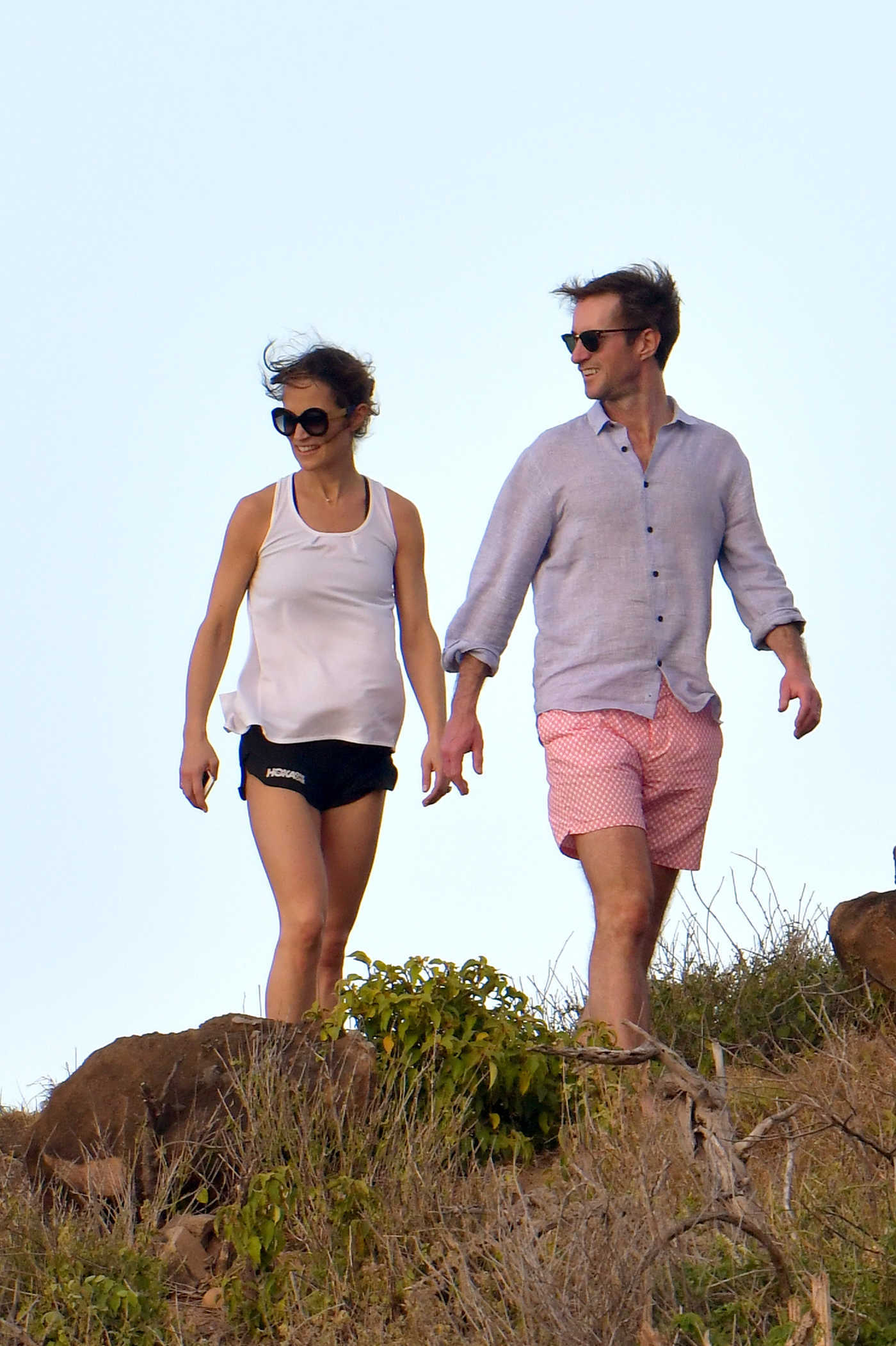 Pippa Middleton in a Black Shorts at Colombier Beach in St Barts 12/30/2018