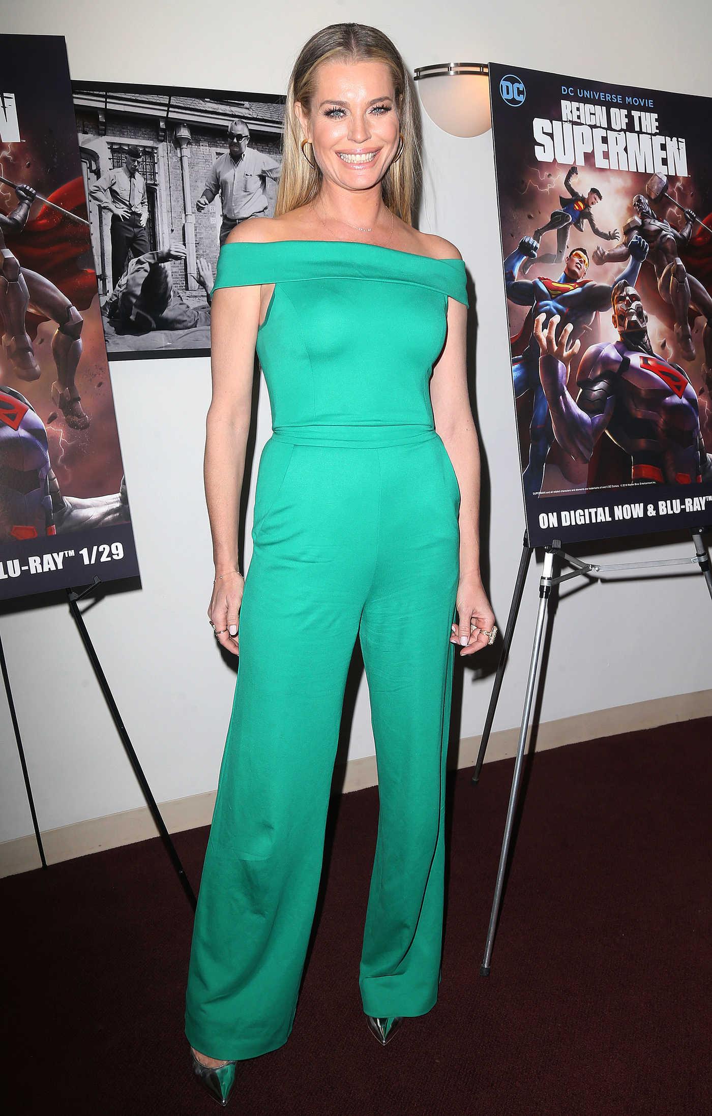 Rebecca Romijn Attends Reign of the Supermen Premiere in New York 01/28/2019