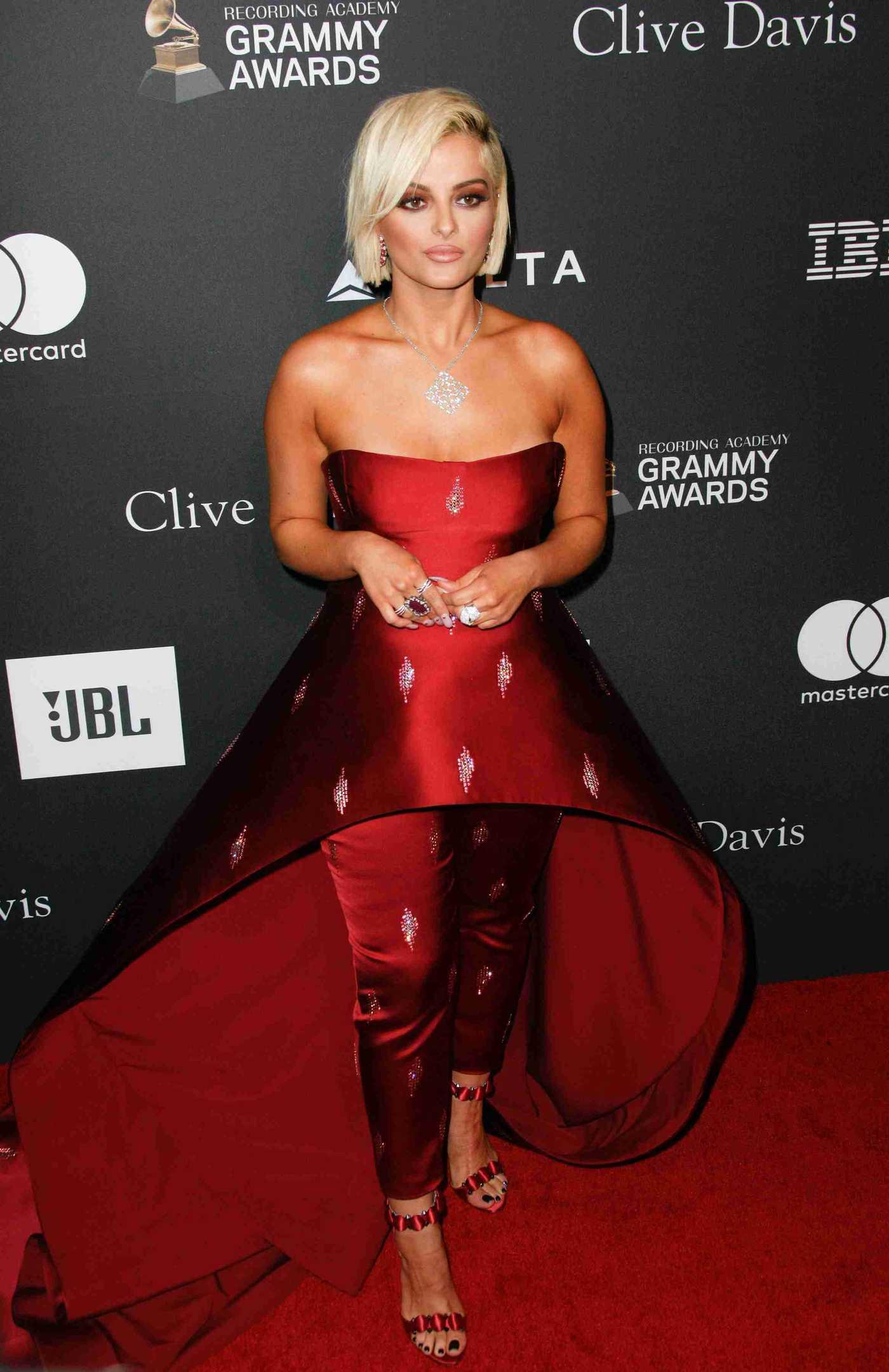 Bebe Rexha Attends 2019 Clive Davis Pre-Grammy Gala in LA 02/09/2019