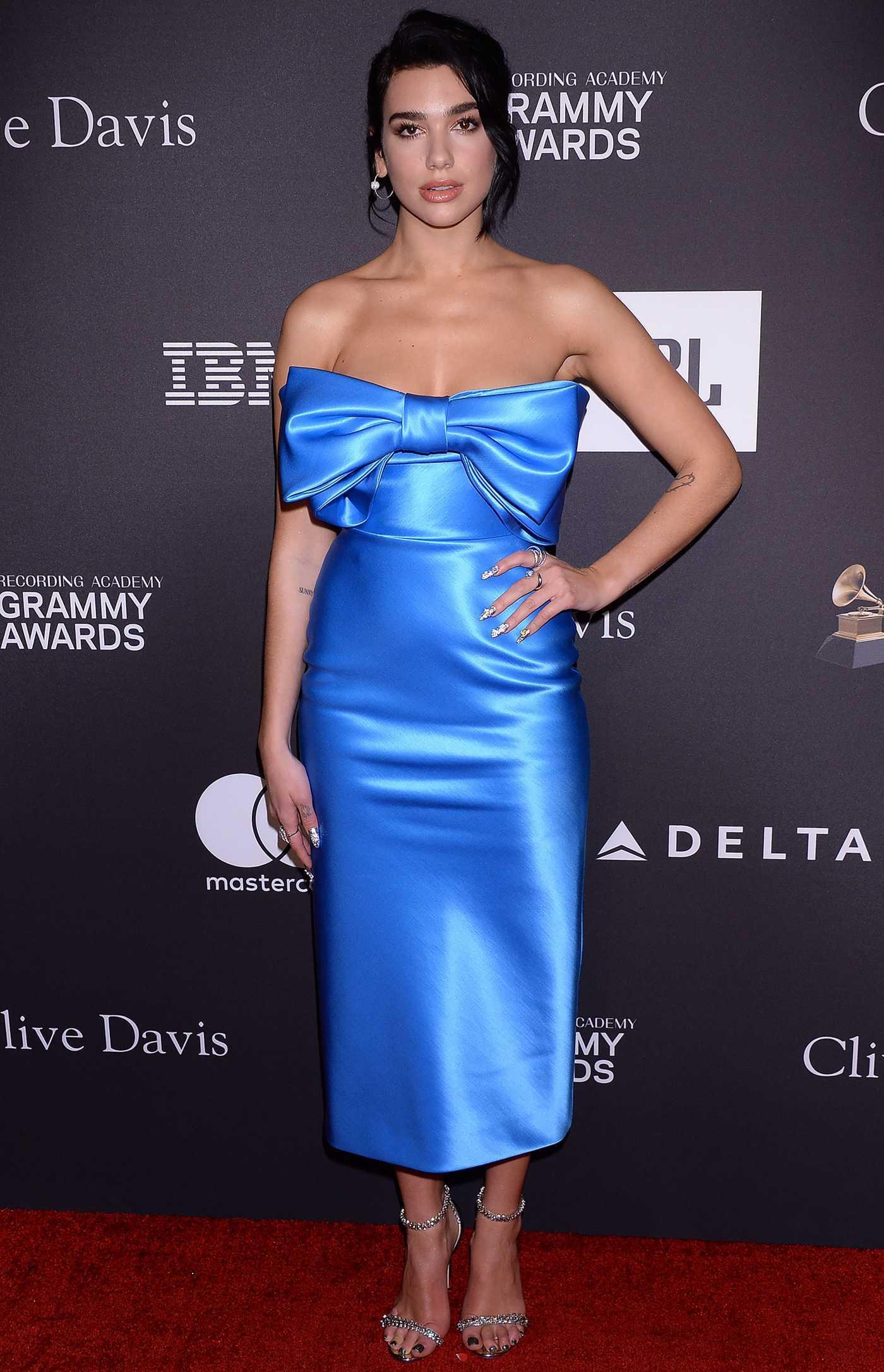 Dua Lipa Attends 2019 Clive Davis Pre-Grammy Gala in LA 02/09/2019