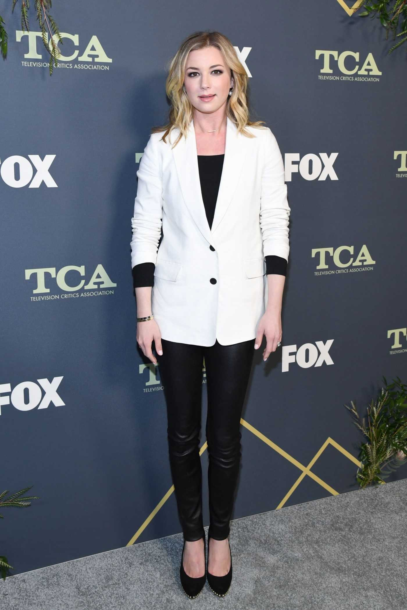 Emily VanCamp Attends the Fox Winter TCA at The Fig House in Los Angeles 02/06/2019
