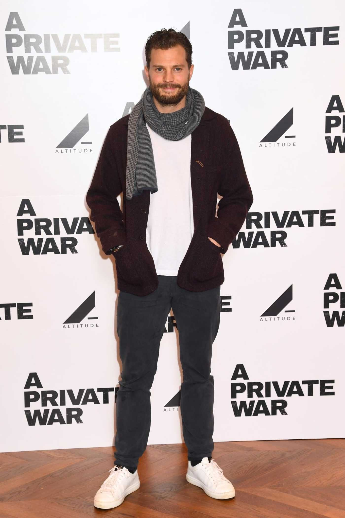Jamie Dornan Attends a Private War Special Screening at Odeon Leicester Square in London 02/04/2019