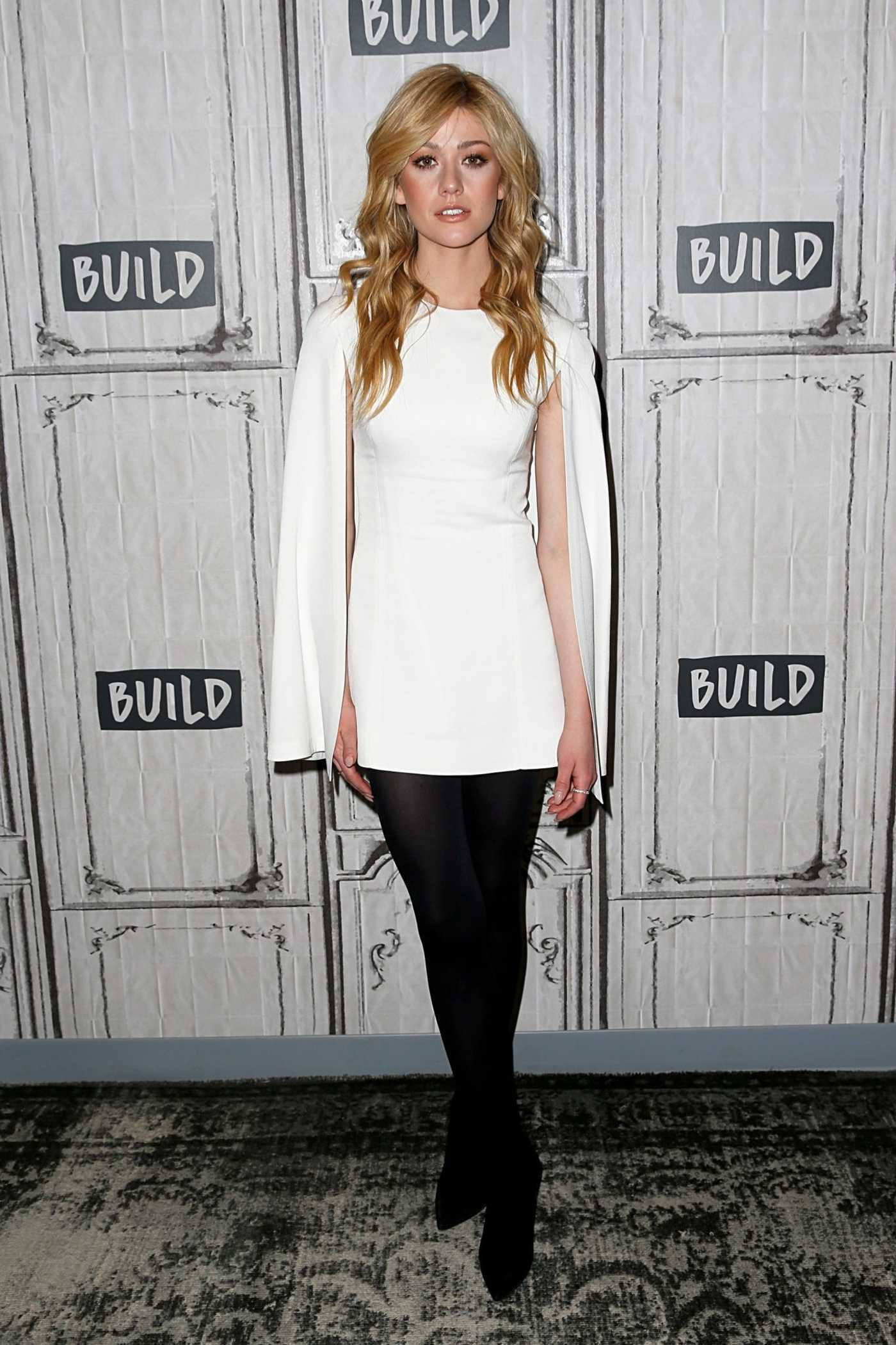 Katherine McNamara Attends AOL Build Studio in New York City 02/25/2019