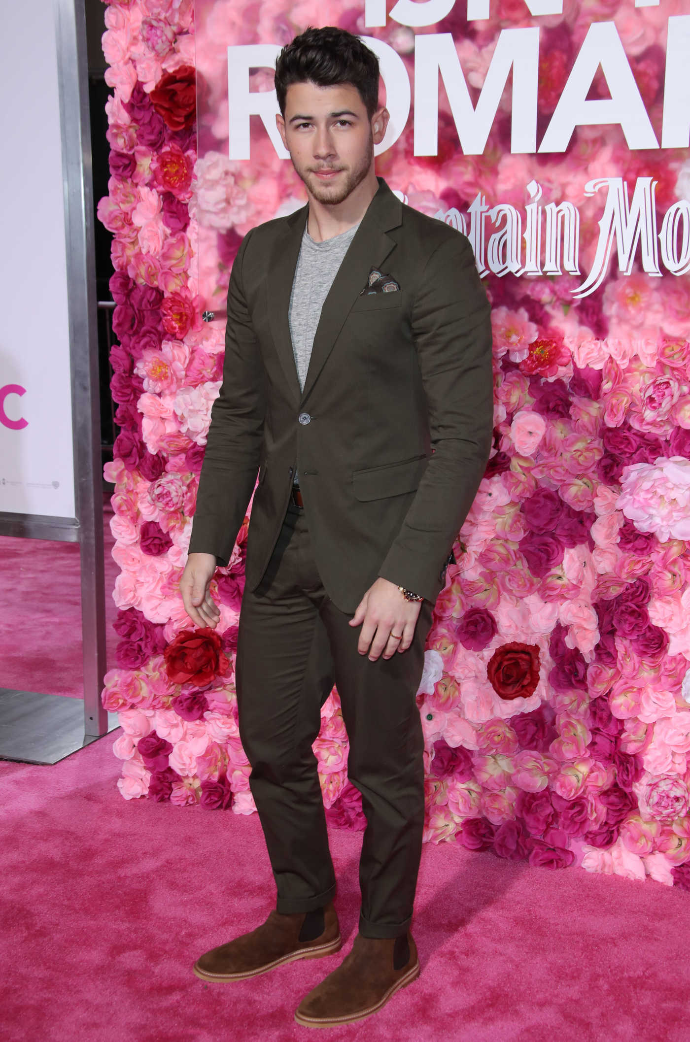 Nick Jonas Attends Isn't it Romantic Premiere in LA 02/11/2019