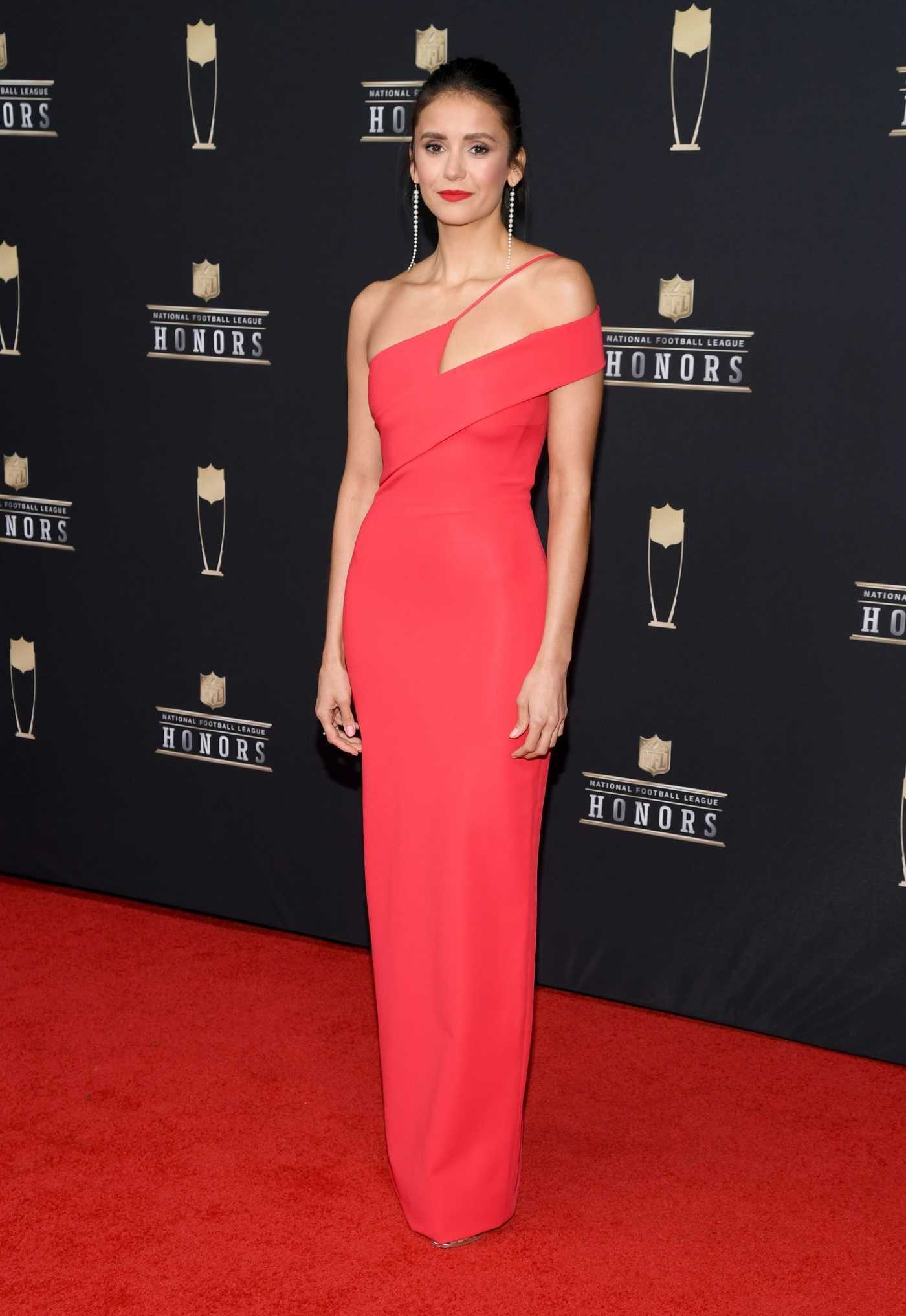 Nina Dobrev Attends the 8th Annual NFL Honors in Atlanta 02/02/2019