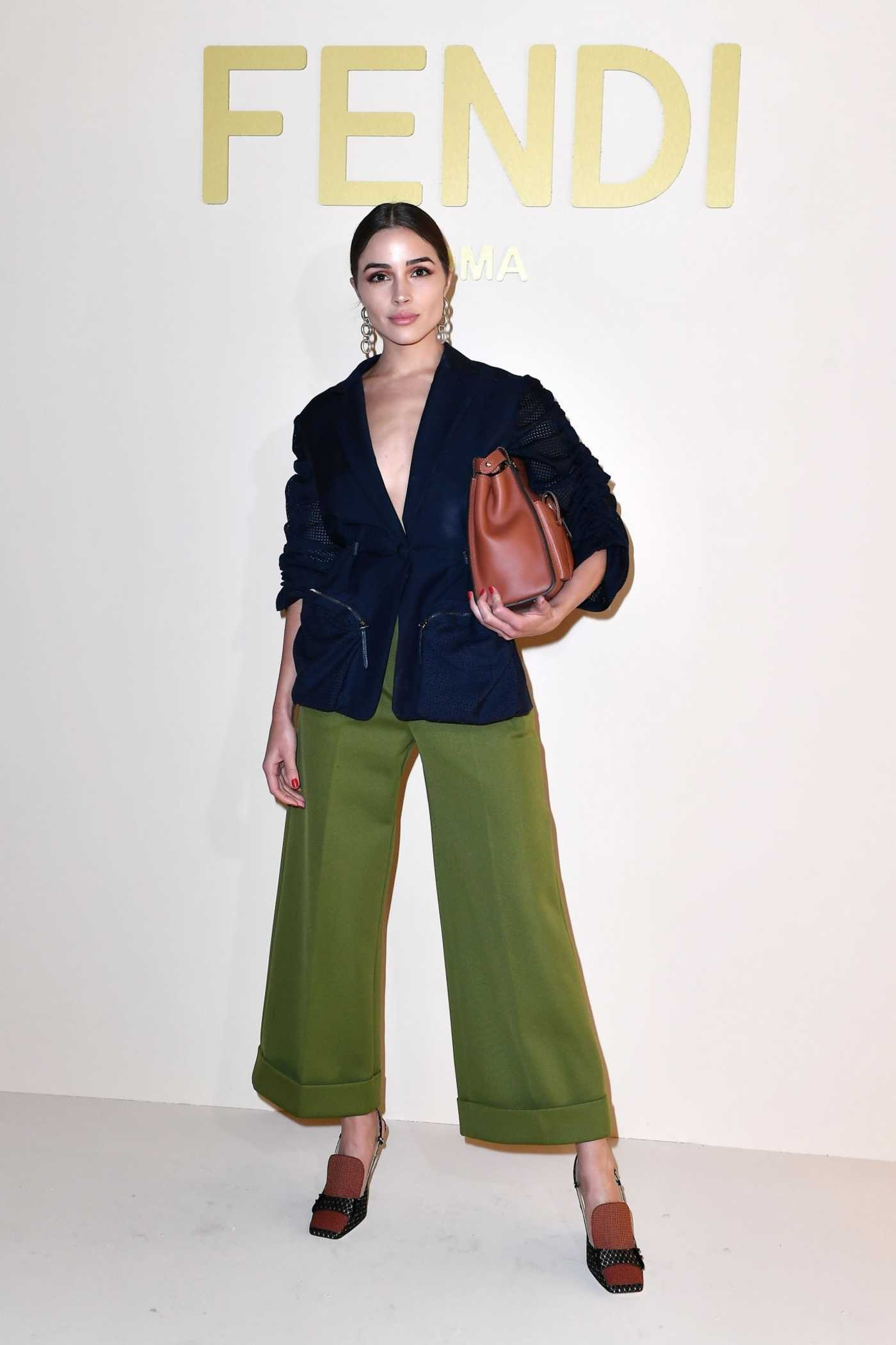 Olivia Culpo Attends the Fendi Show During Milan Fashion Week in Milan 02/21/2019